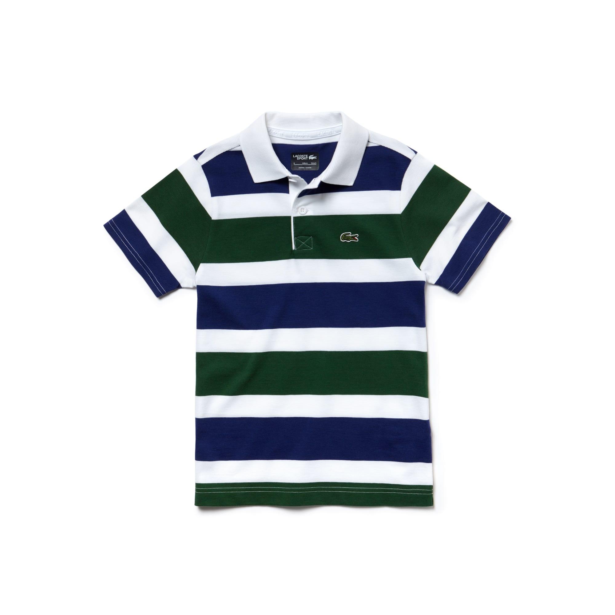 Boys' Lacoste SPORT Tennis Ultra-Light Striped Knit Polo