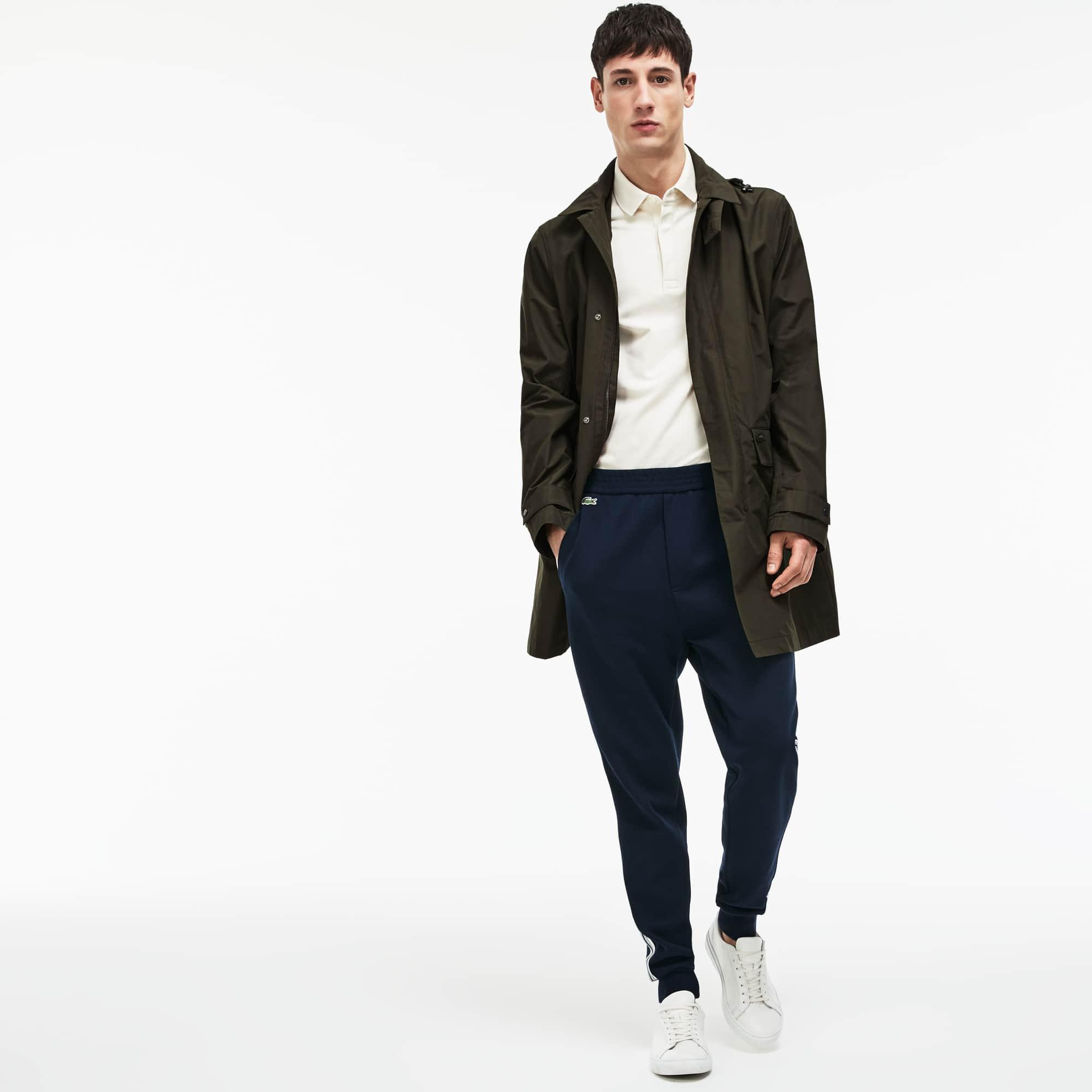 Men's Invisible Fastening Hooded Taffeta Raincoat
