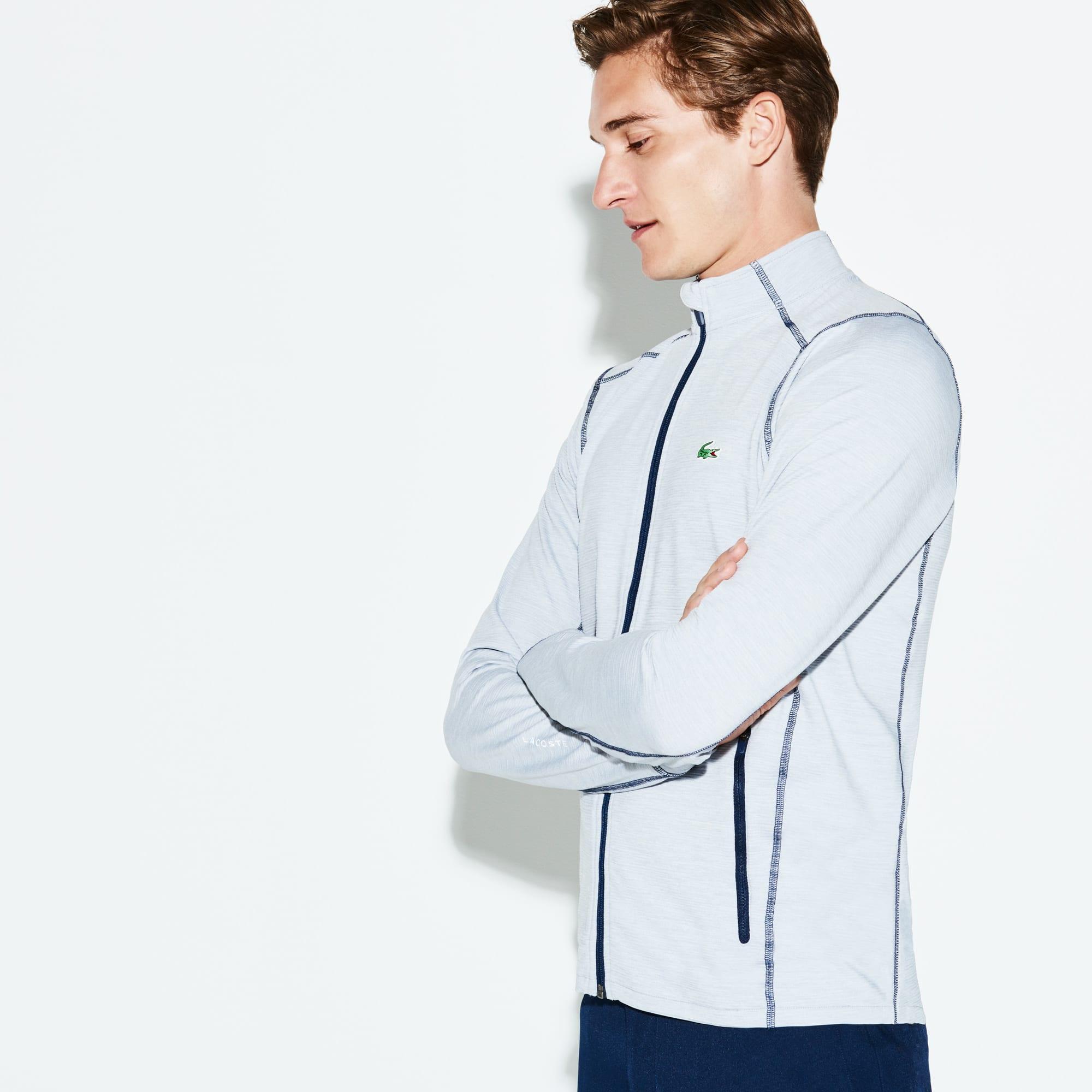 Men's Lacoste SPORT Tech Flamme Midlayer Zip Golf Sweatshirt