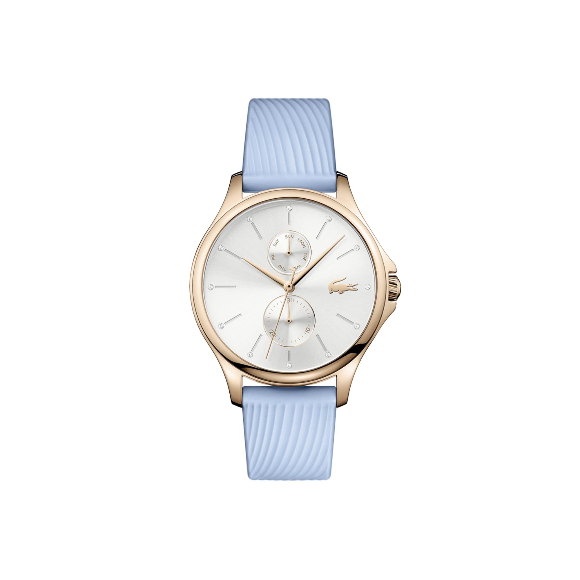 Women's Kea Multifunctions Watch with Blue Silicone Strap