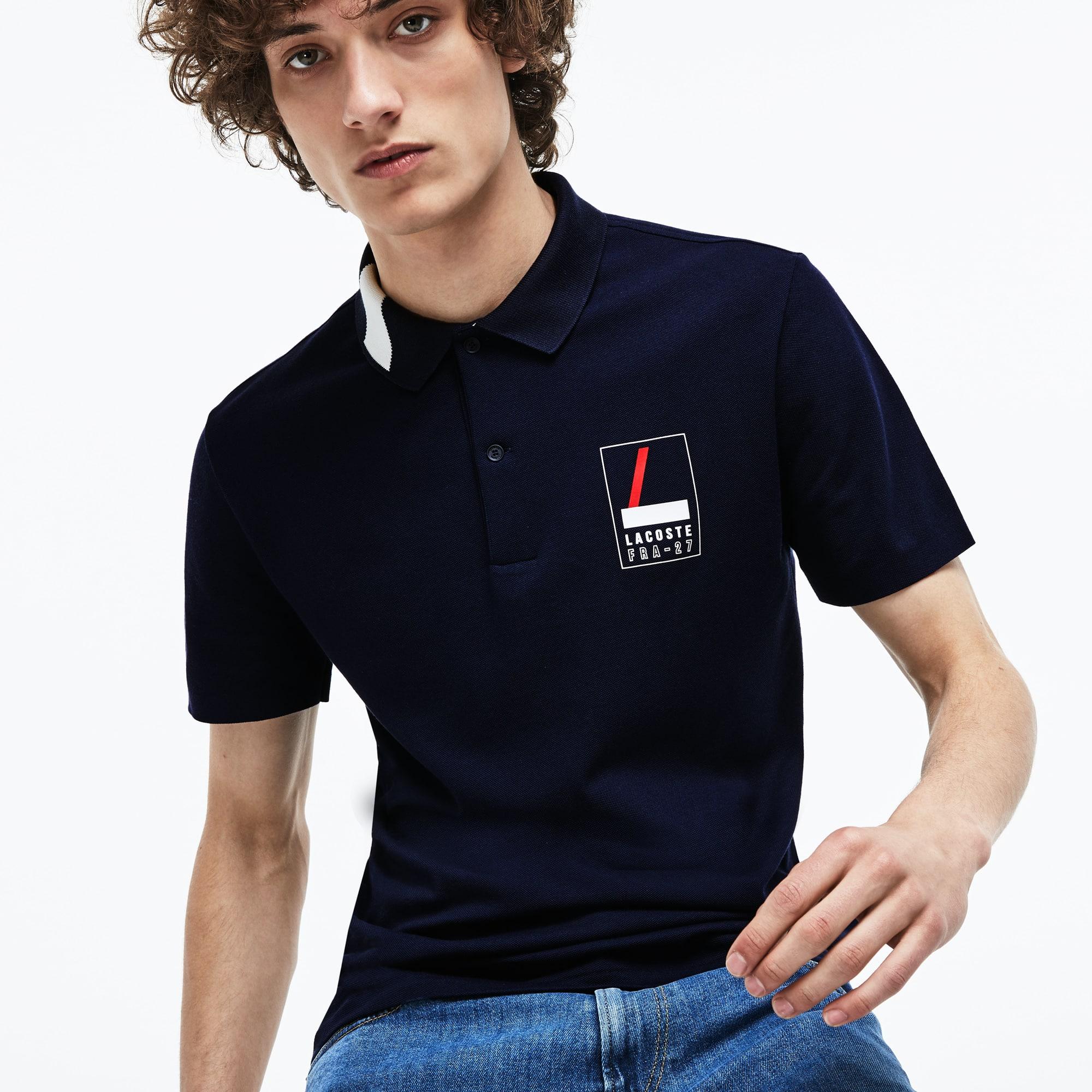 Lacoste - Polo De Hombre Lacoste Slim Fit En Mini Piqué Elástico Con Inscripción - 1