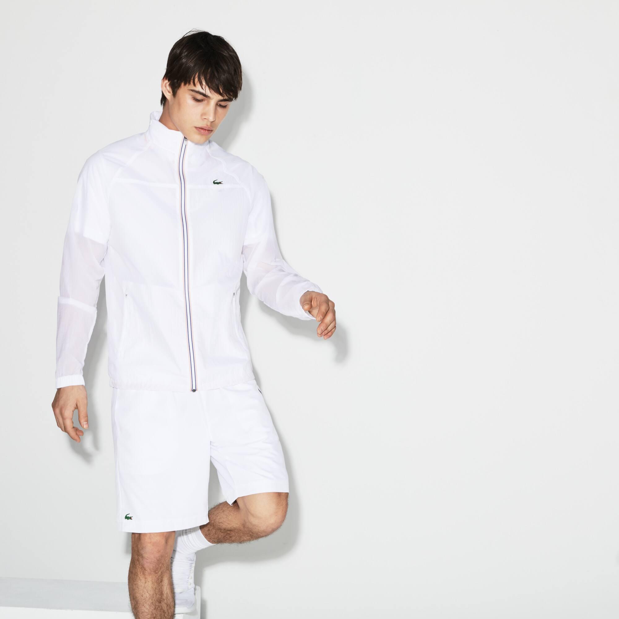 Cortavientos técnico Tenis Lacoste SPORT con capucha oculta