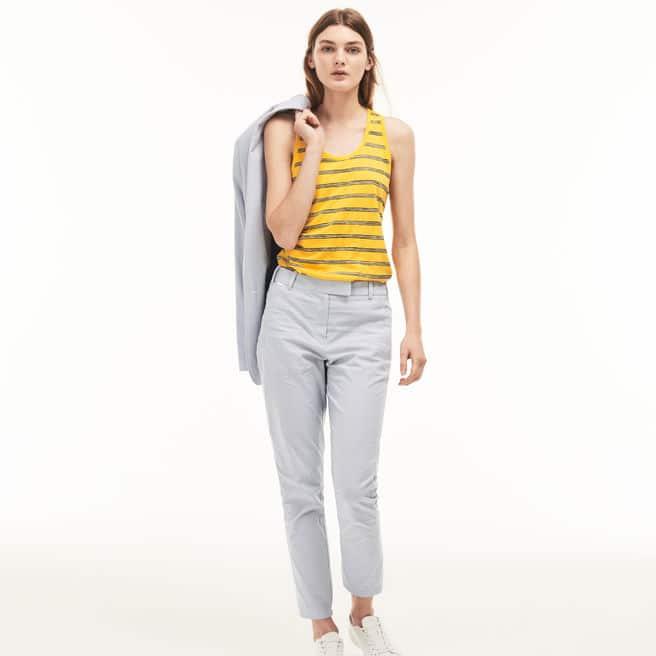 Pantalón Mujer Cuadros Slim Fit