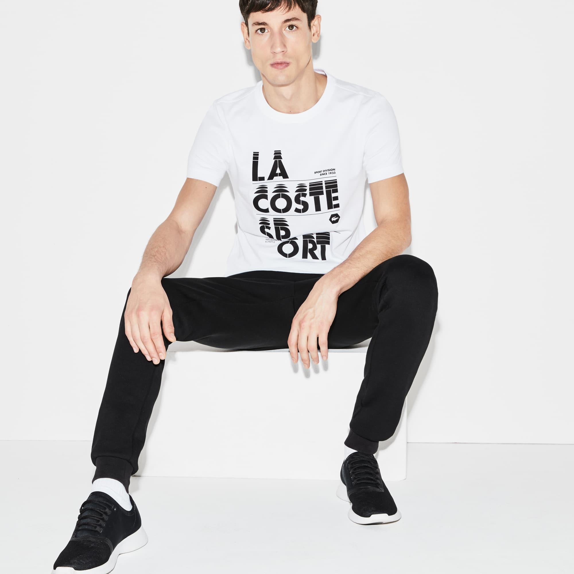 Camiseta Inscripción Hombre Tenis Lacoste Sport