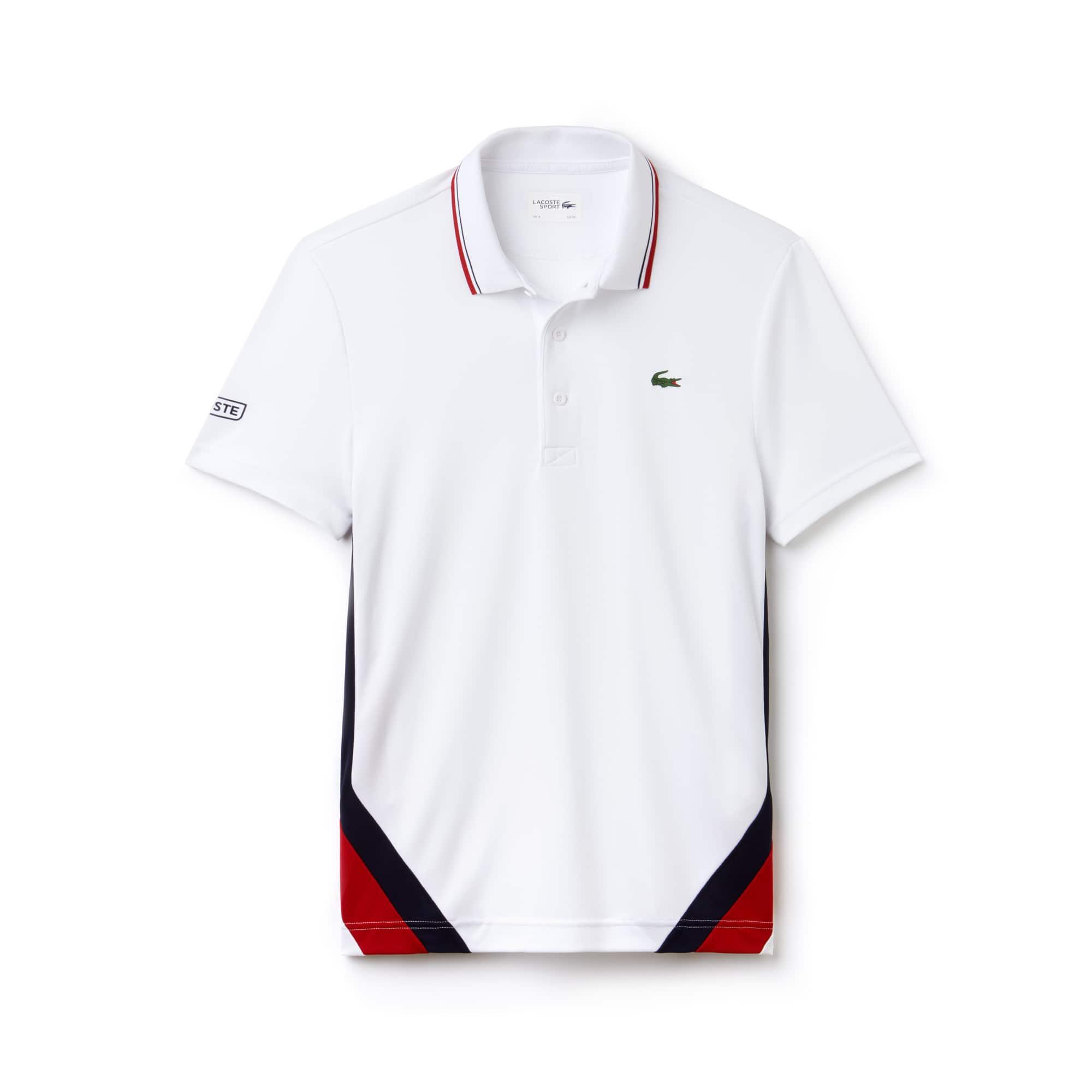 Polo De Hombre Lacoste SPORT Tennis En Piqué Técnico Con Franjas Color Block