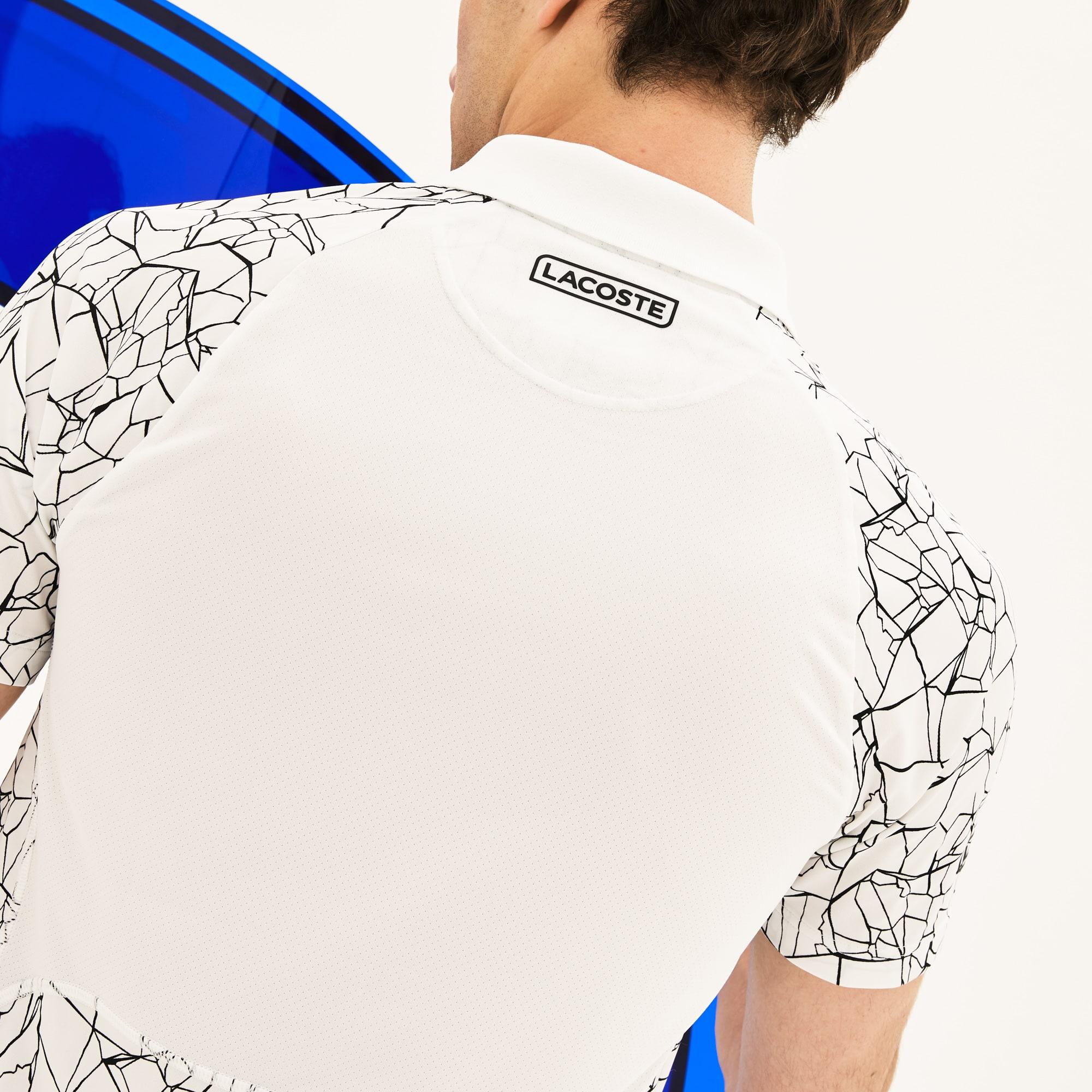 Lacoste - Polo De Hombre Lacoste SPORT Novak Djokovic-On Court Collection En Tejido De Punto Técnico Estampado - 5