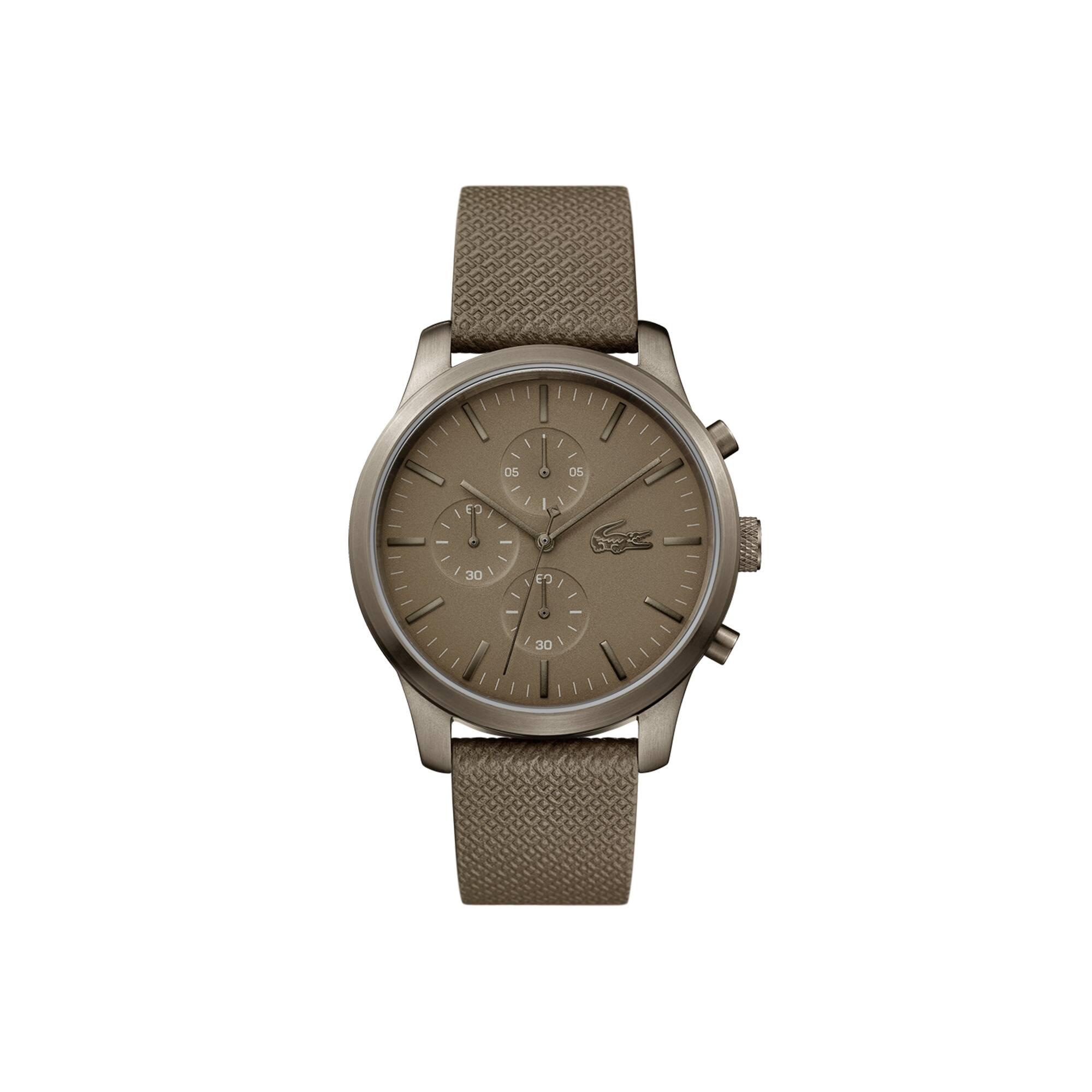 Reloj de Hombre Lacoste L.12.12 85Th Anniversary con Cronógrafo Y Correa Caqui de Piel con Textura de Petit Piqué En Relieve