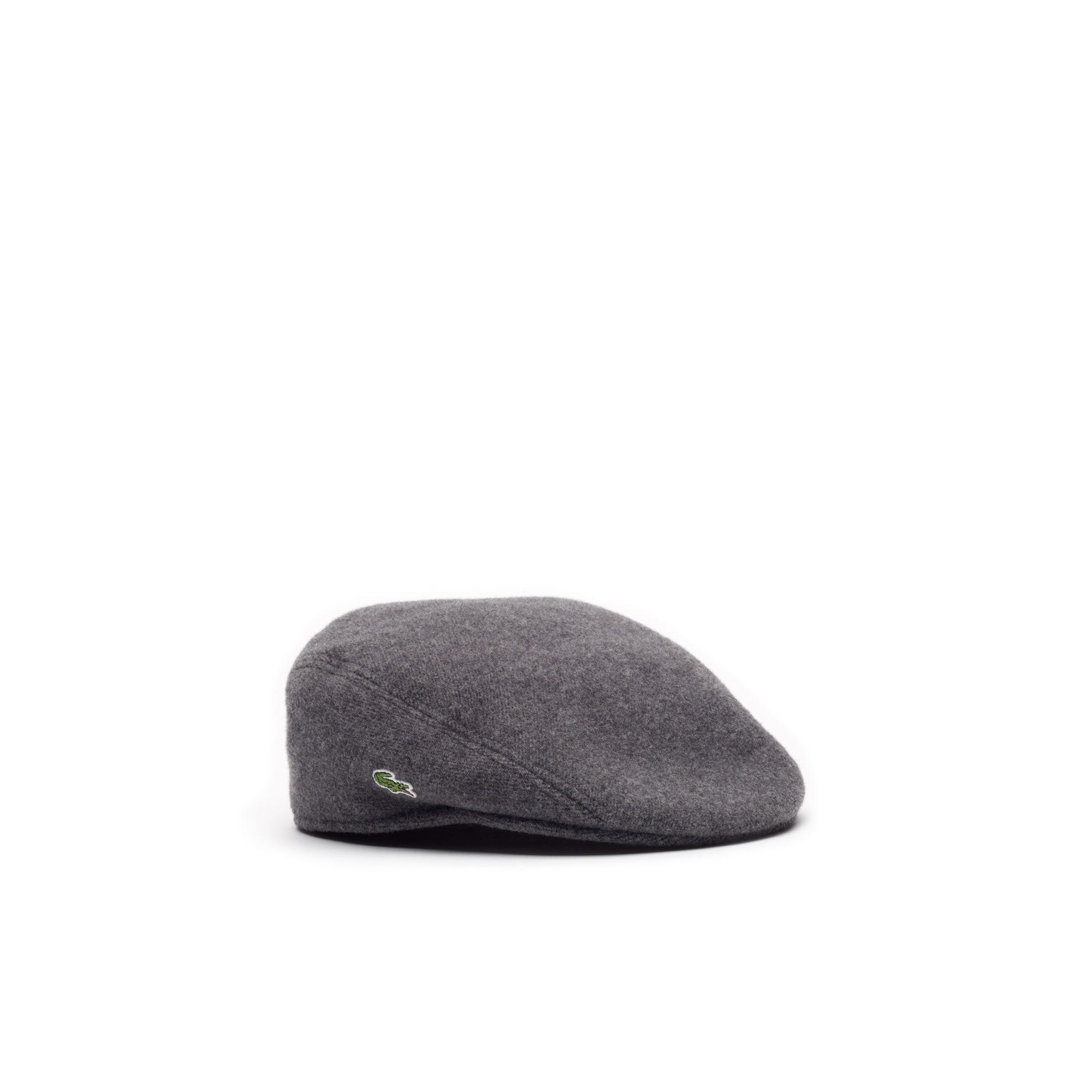Gorra de hombre plana de paño de lana
