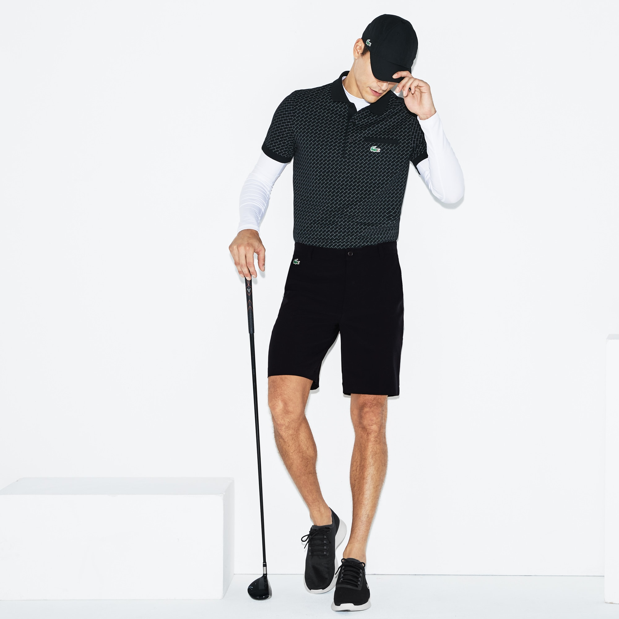 Bermudas De Hombre Lacoste SPORT Golf En Tafetán Técnico Y Elástico