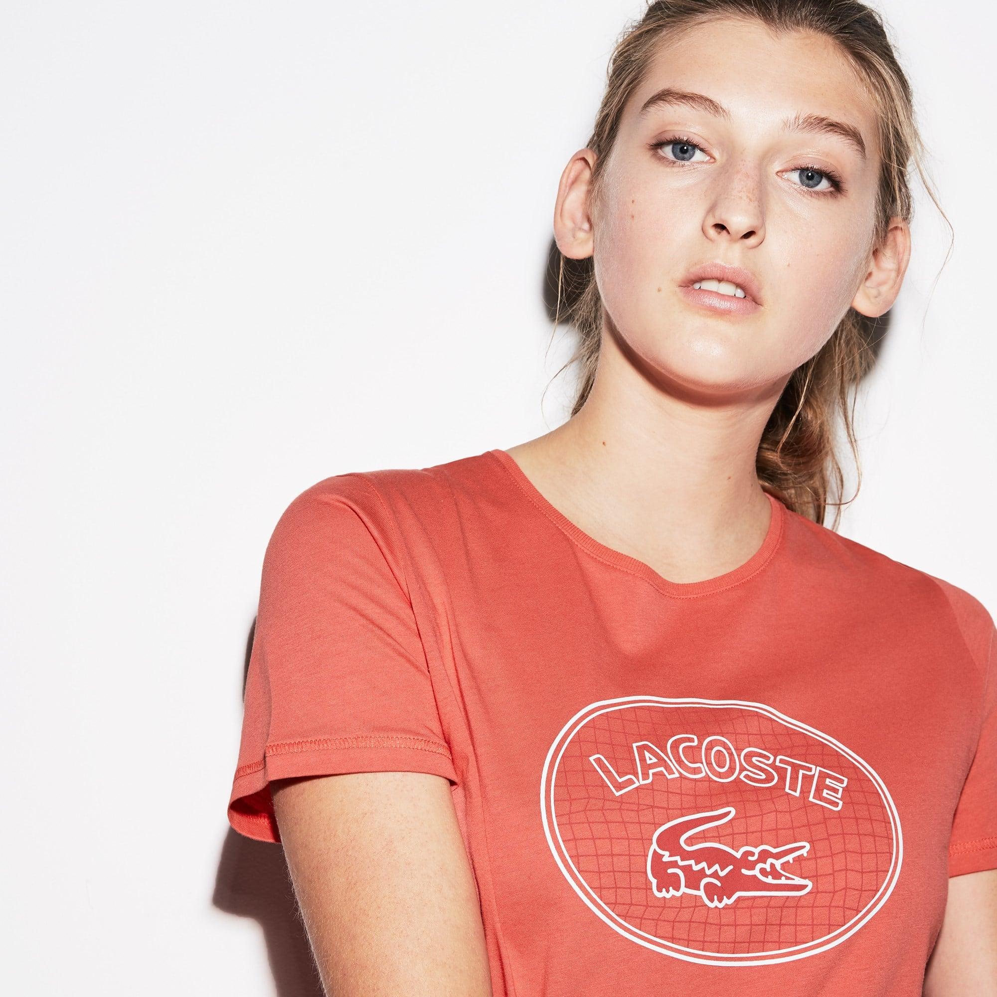 Camiseta De Mujer Lacoste SPORT Tennis En Tejido De Punto Con Logo Oversized