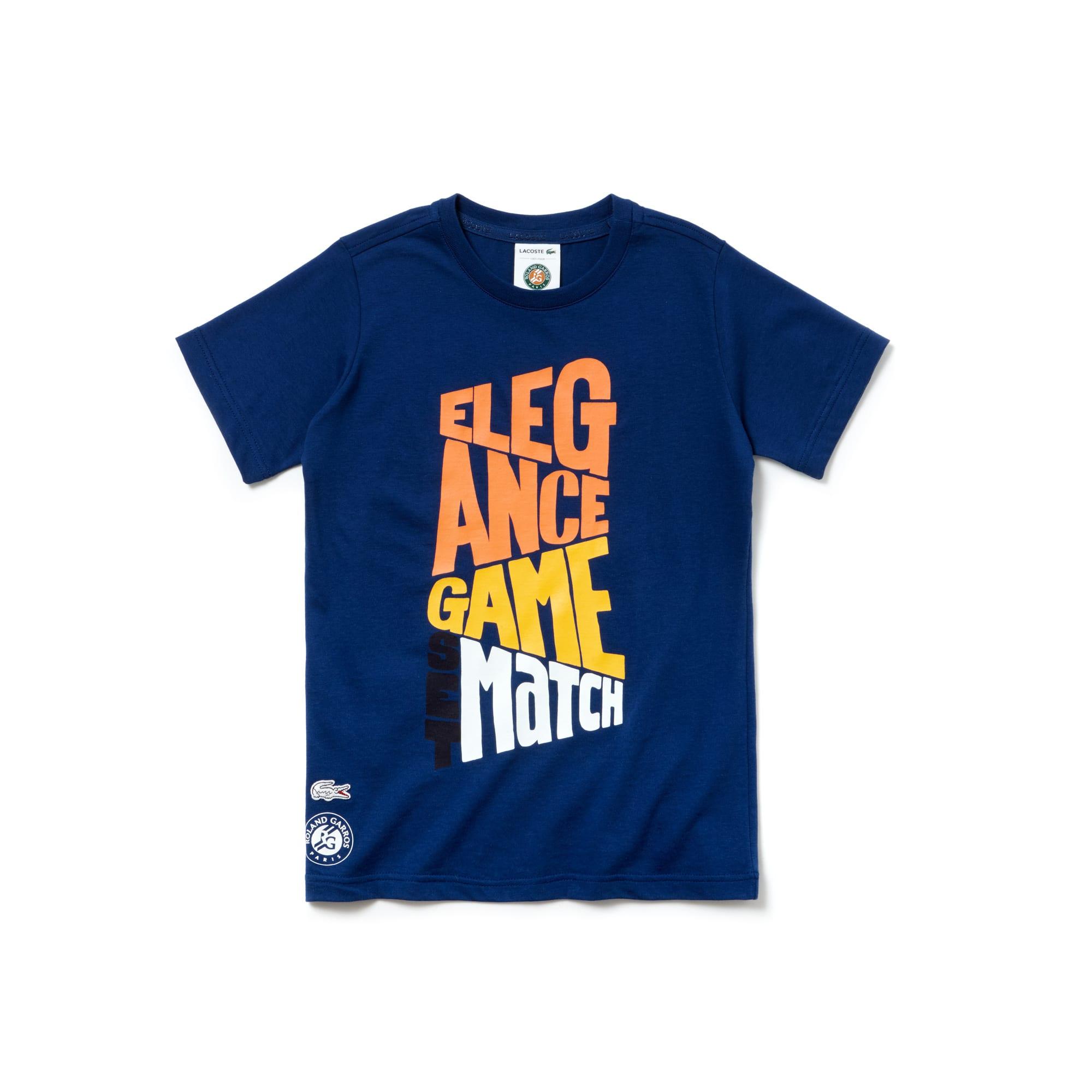 Camiseta Niño Lacoste Sport De Algodón Edición Roland Garros
