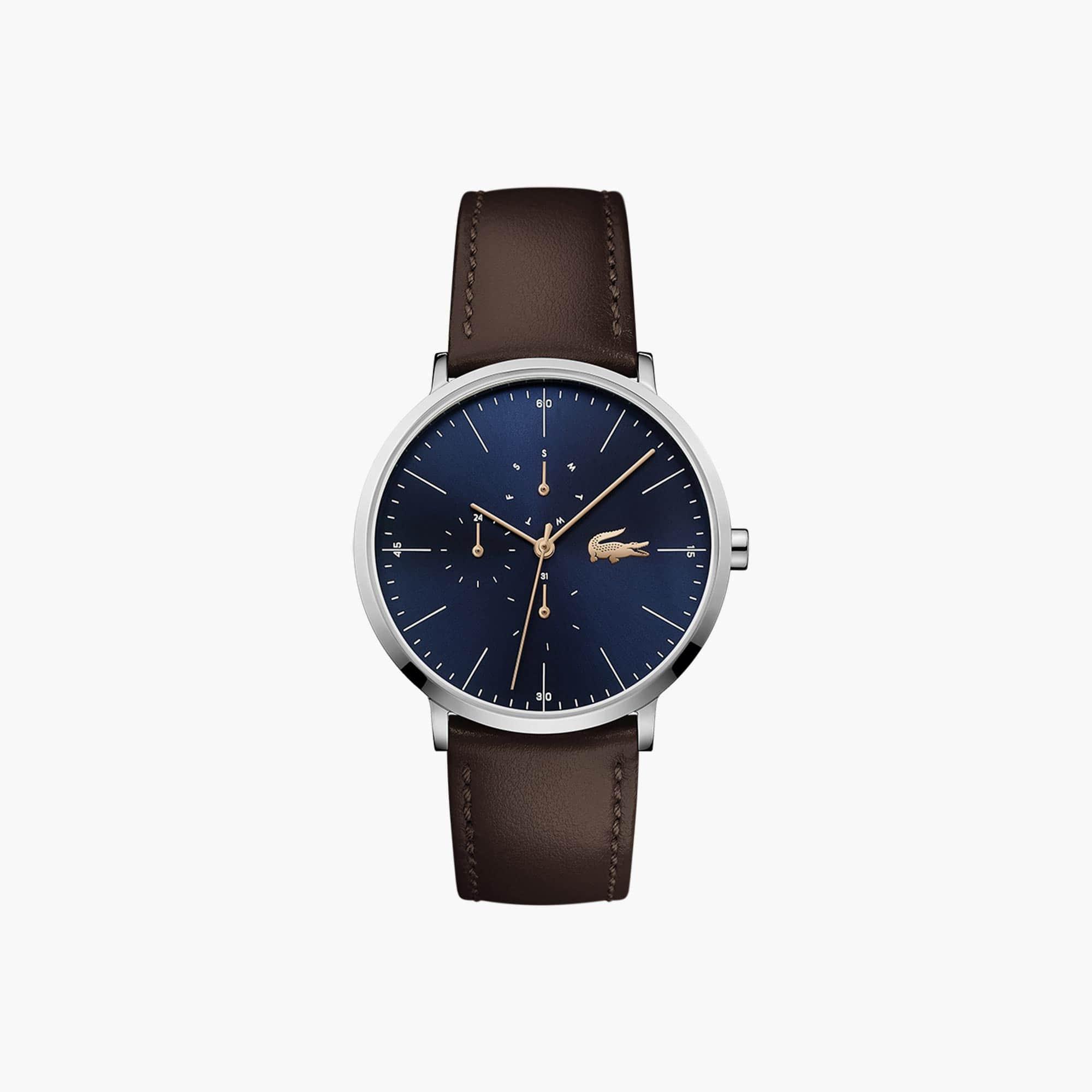 2717c27c4e71 Reloj de Hombre Moon Multifunción Ultrafino con Correa de Piel Marrón