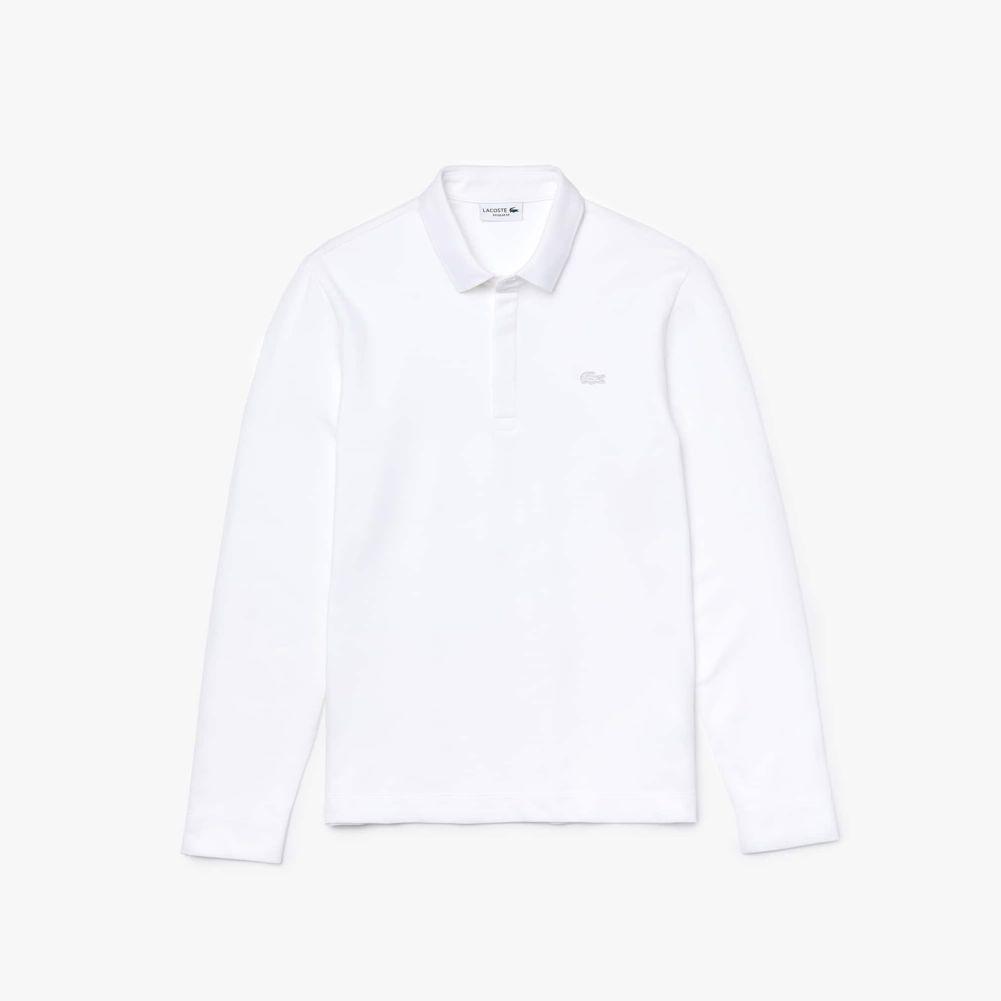 Polo París de hombre Lacoste regular fit en piqué de algodón elástico de manga larga
