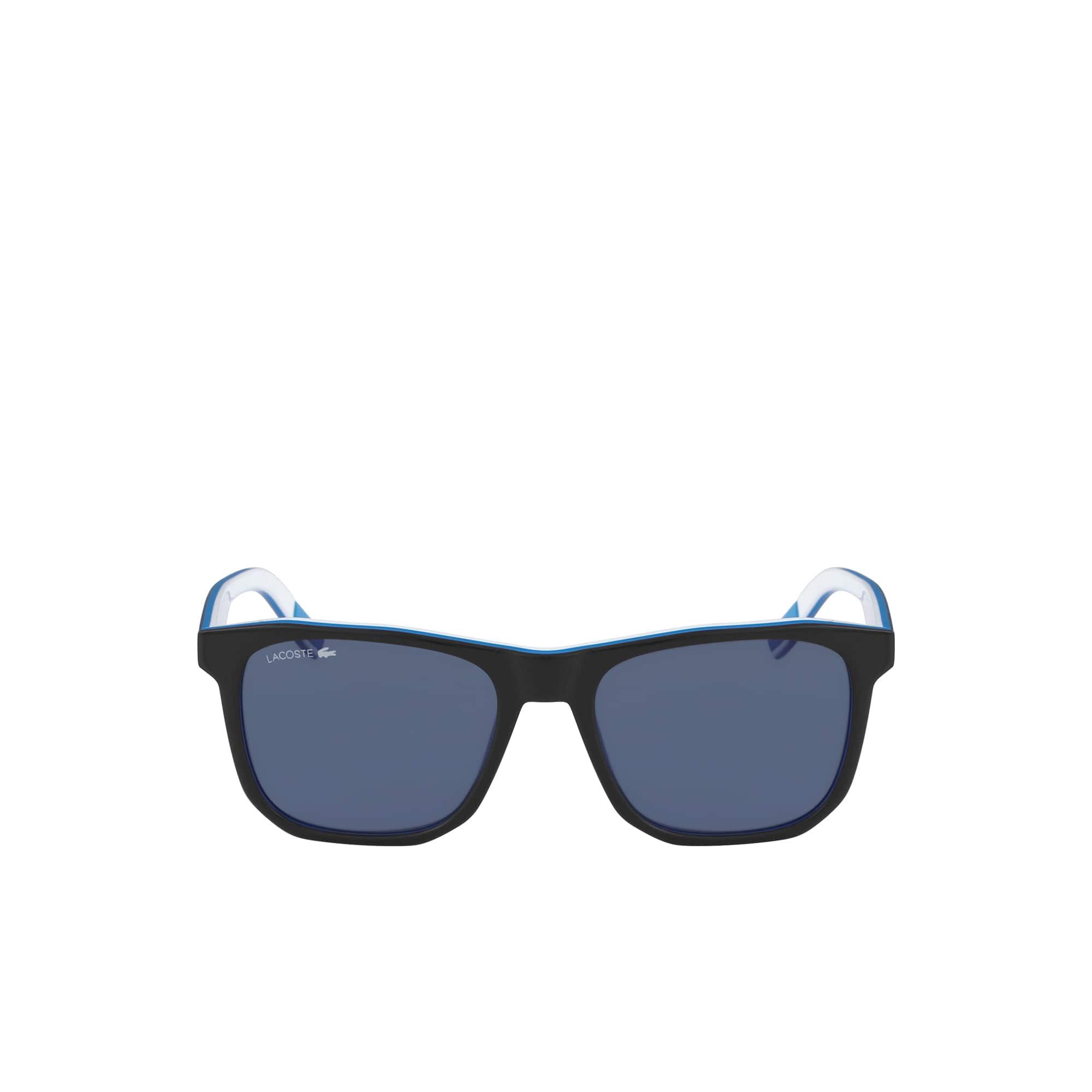 Gafas De Sol Lt12 Para Hombre Con Rayas Y Ribete Y Montura De Acetato