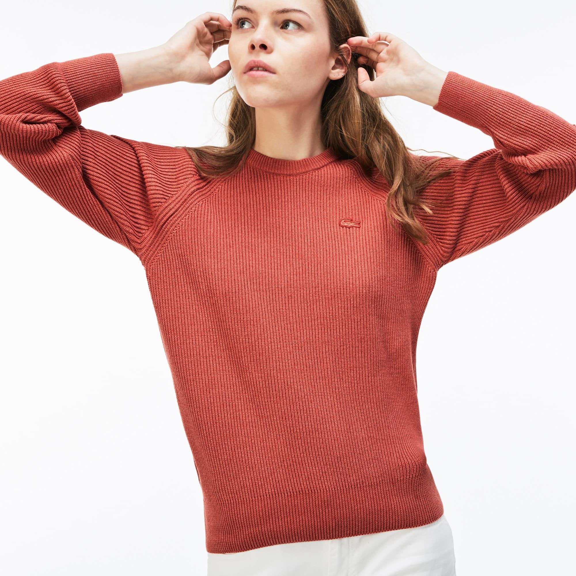 Jersey Mujer Cuello Redondo En Algodón Y Lana