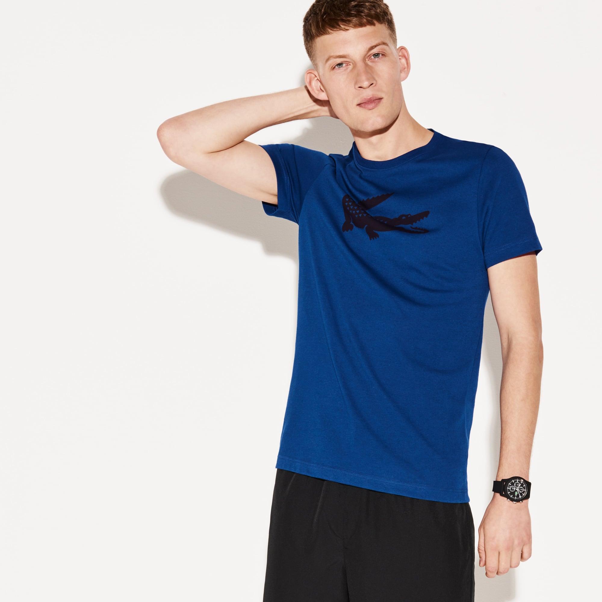 Camiseta Tenis Lacoste Sport De Punto Técnico Con Cocodrilo Oversized