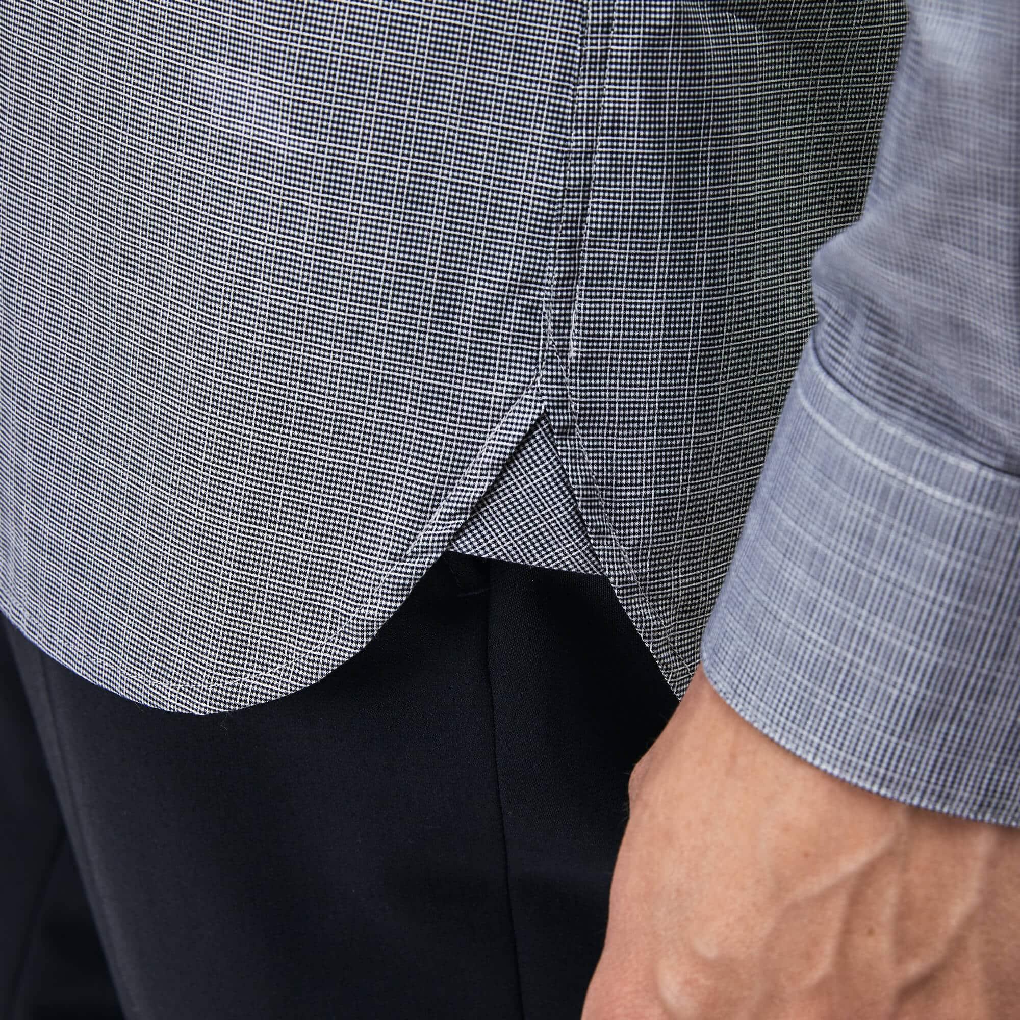 Lacoste - Camisa De Hombre Slim Fit En Jacquard De Popelín De Algodón - 4