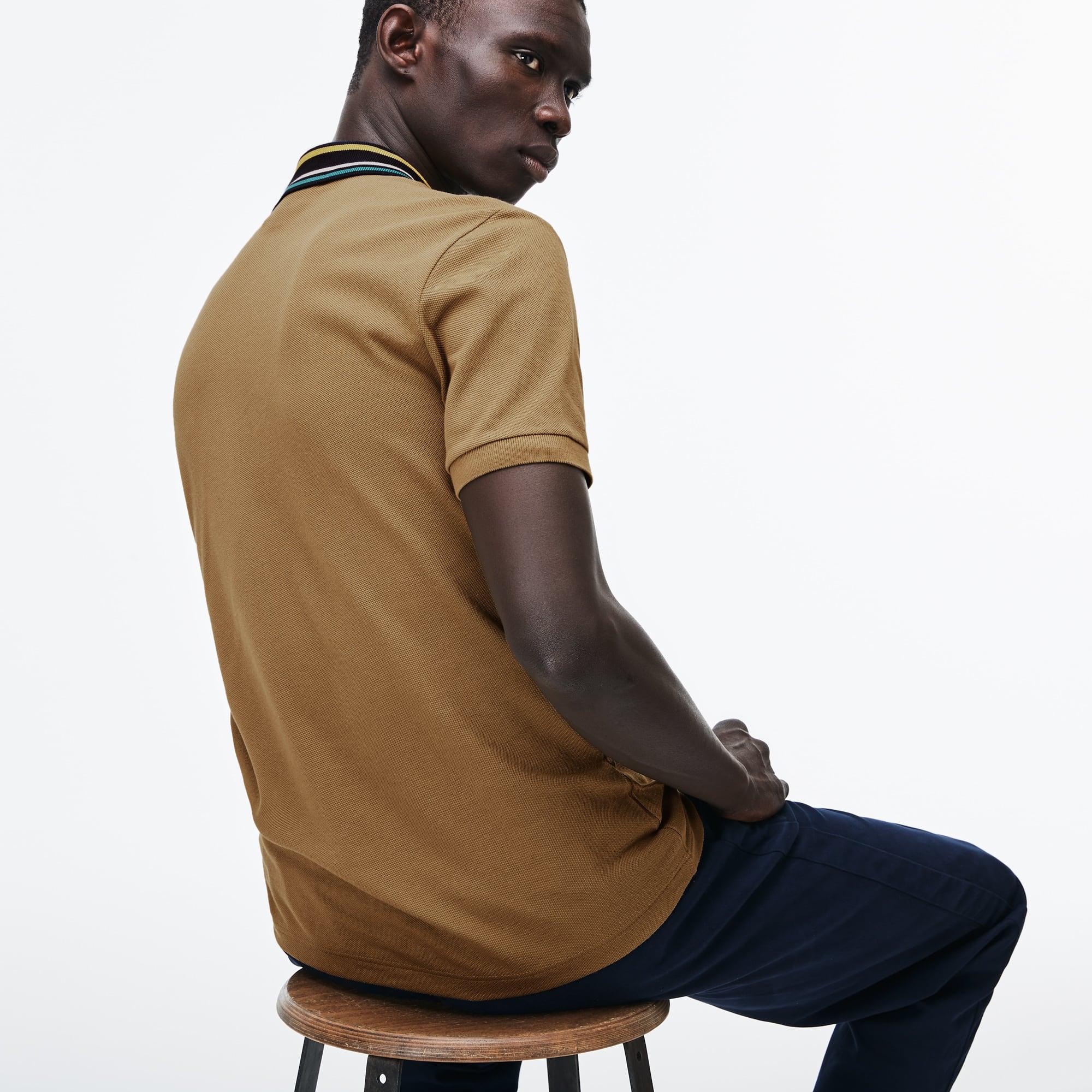 Lacoste - Polo De Hombre Lacoste Slim Fit En Petit Piqué Con Cuello A Contraste De Rayas - 2