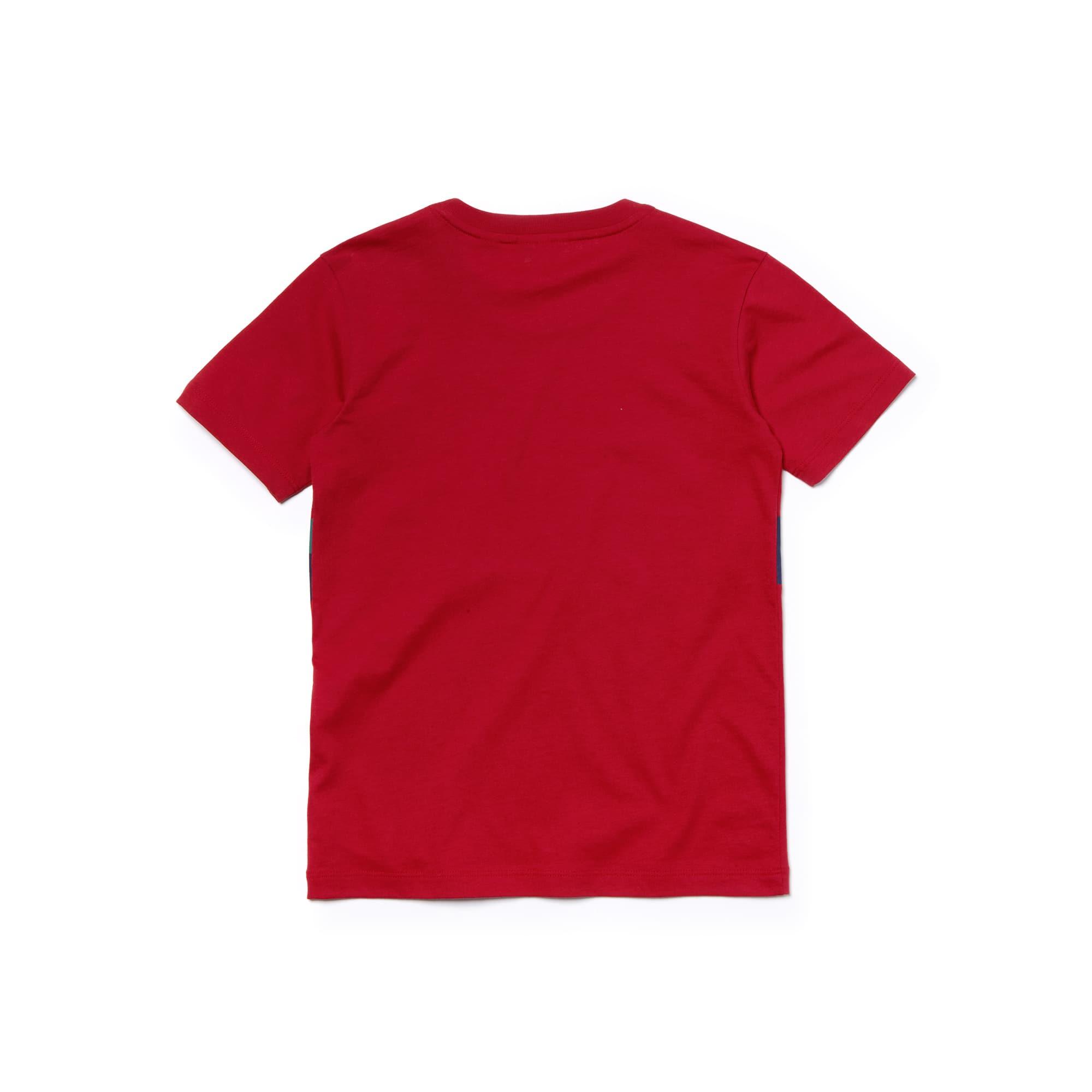 Lacoste - Camiseta De Niño En Tejido De Punto De Algodón Con Inscripción Ready To Play Y Cuello Redondo - 4