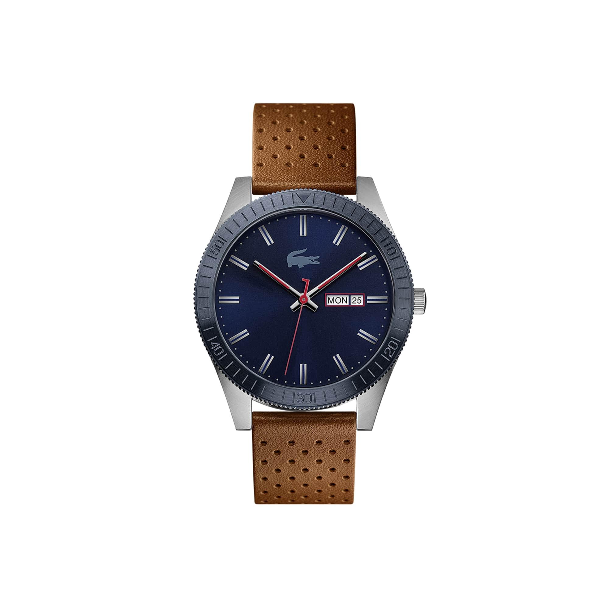 3d81179aabdb Reloj de Hombre Lacoste Legacy con Correa de Piel Perforada Marrón
