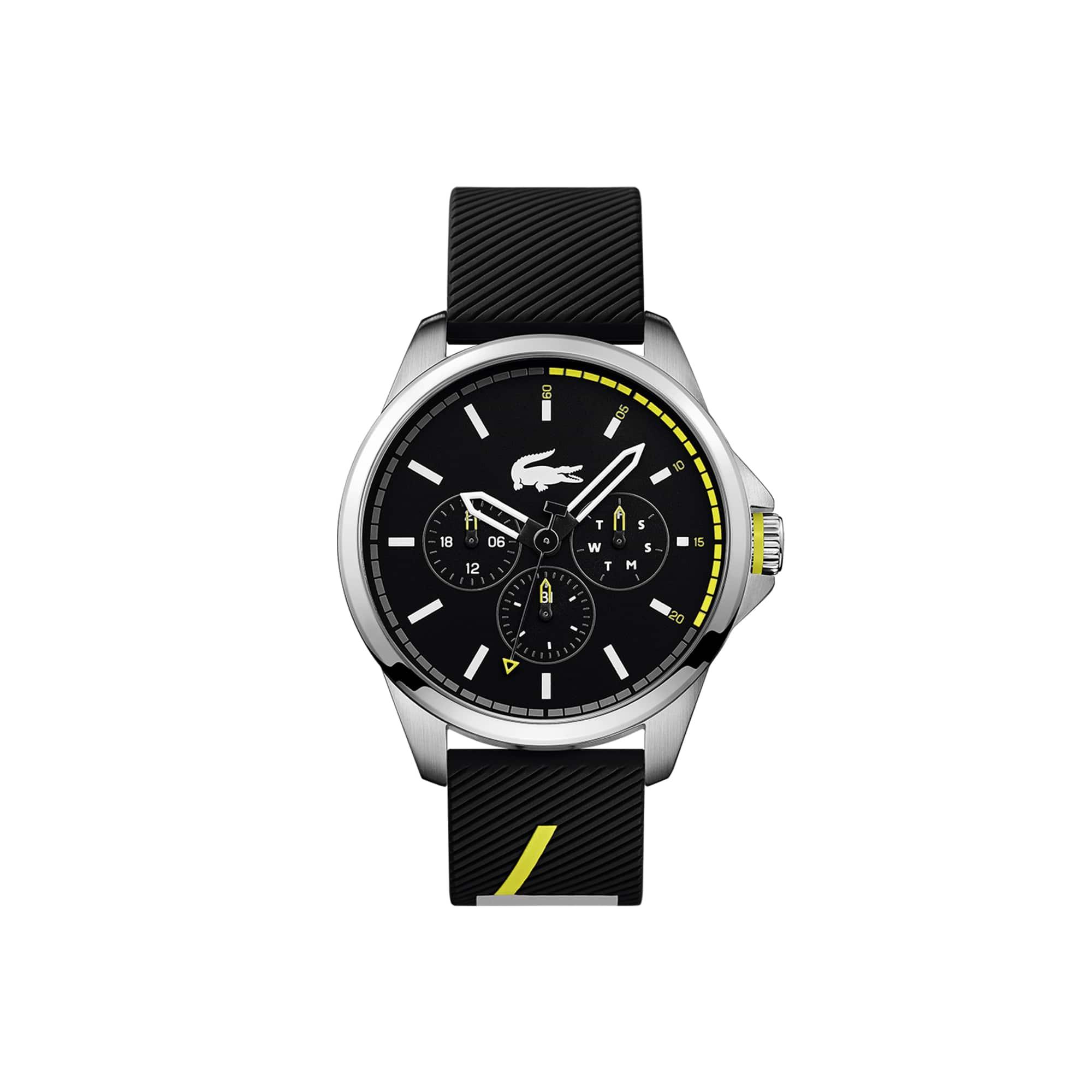 Reloj de Hombre Capbreton Multifunción con Correa de Silicona Negra
