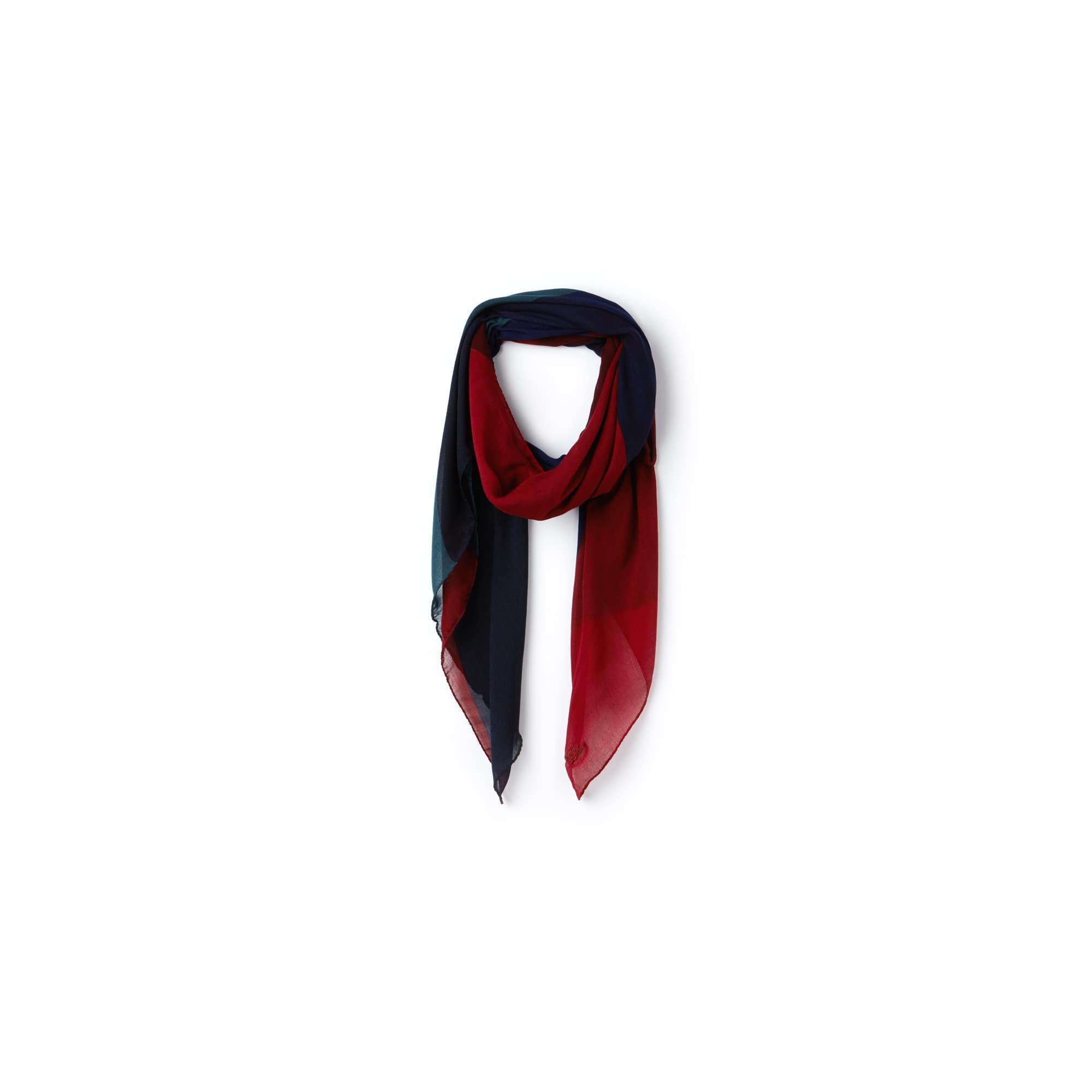 Bufanda De Mujer En Mezcla De Lana Con Diseño Color Block