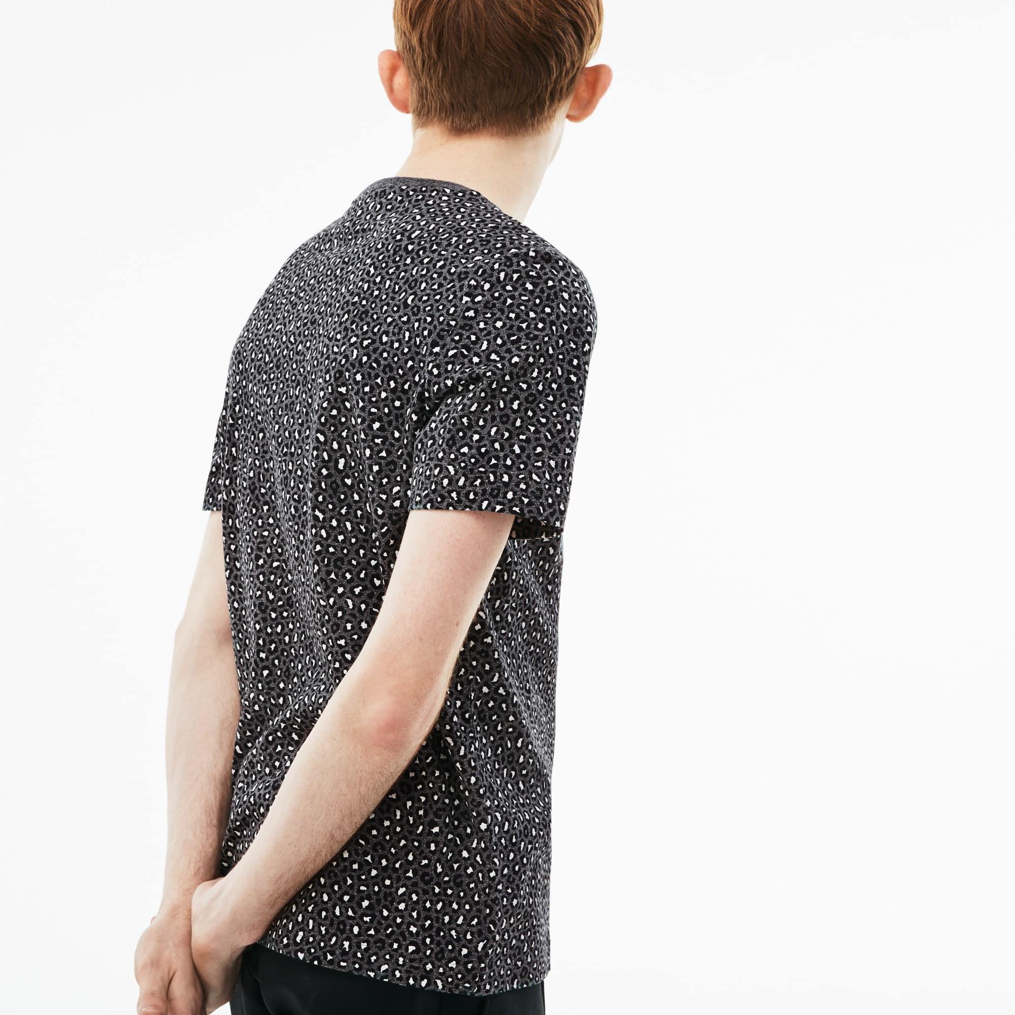 Lacoste - Camiseta De Hombre Lacoste LIVE En Tejido De Punto Con Estampado De Leopardo Y Cuello Redondo - 2