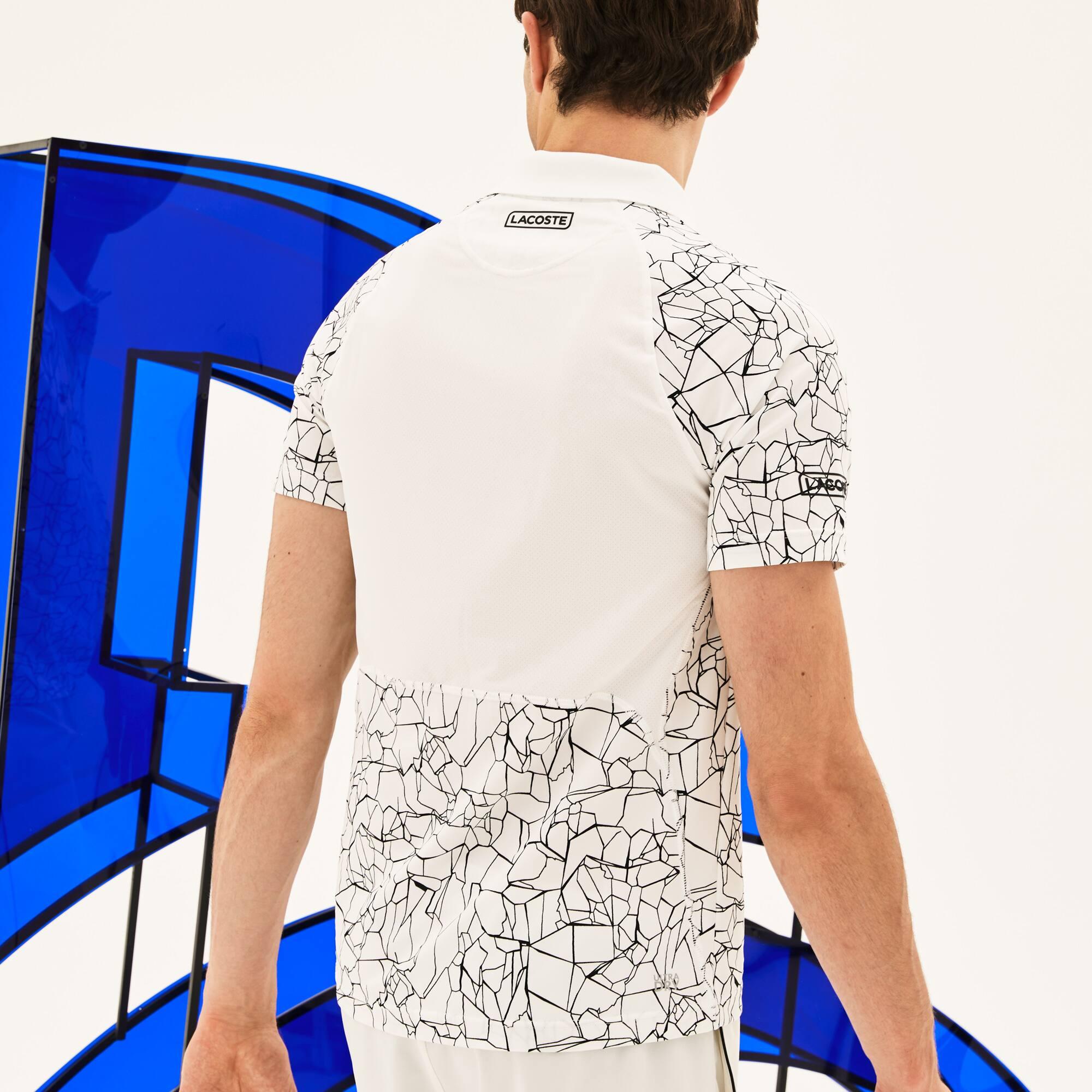 Lacoste - Polo De Hombre Lacoste SPORT Novak Djokovic-On Court Collection En Tejido De Punto Técnico Estampado - 2