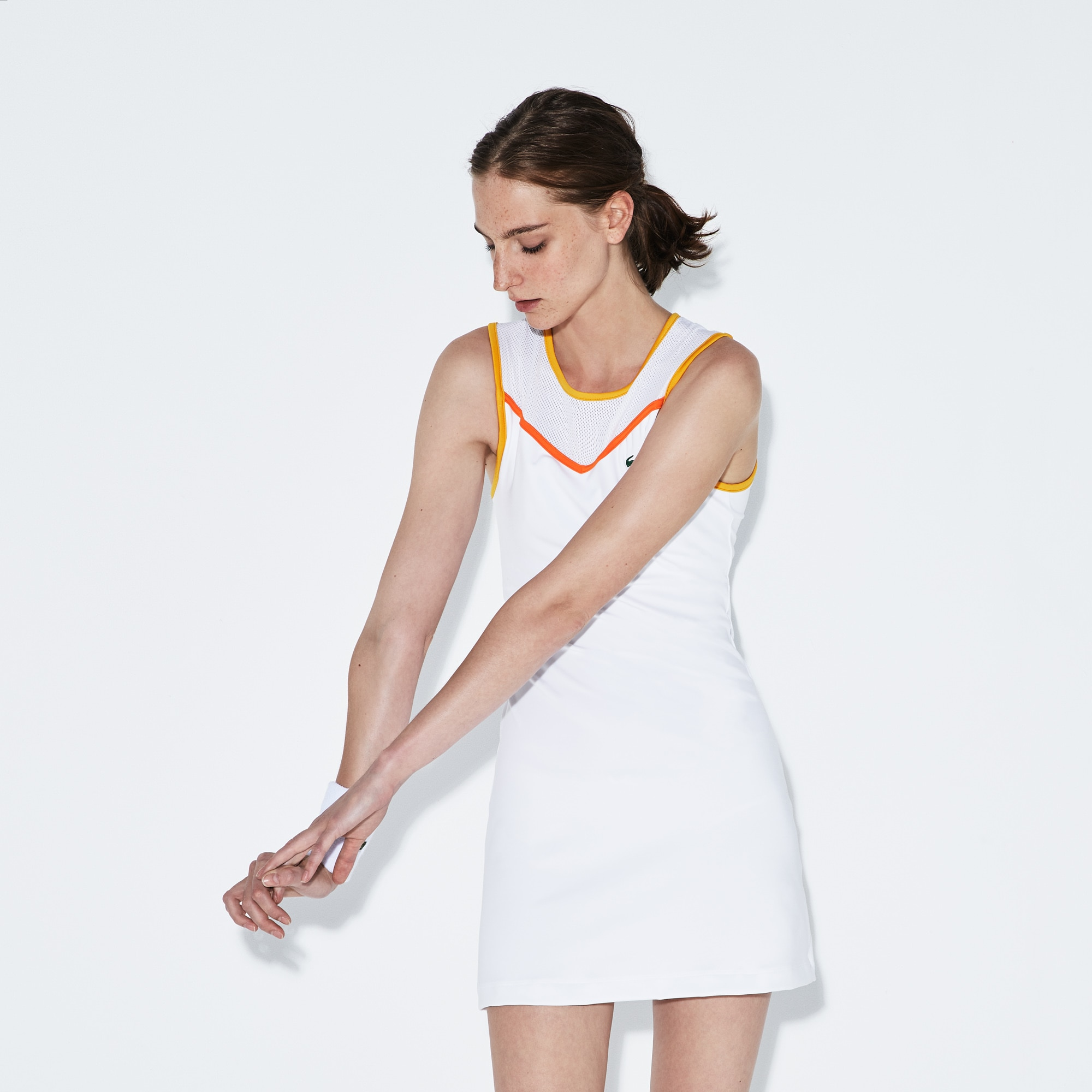 Vestido Con Espalda De Malla Tenis Lacoste Sport