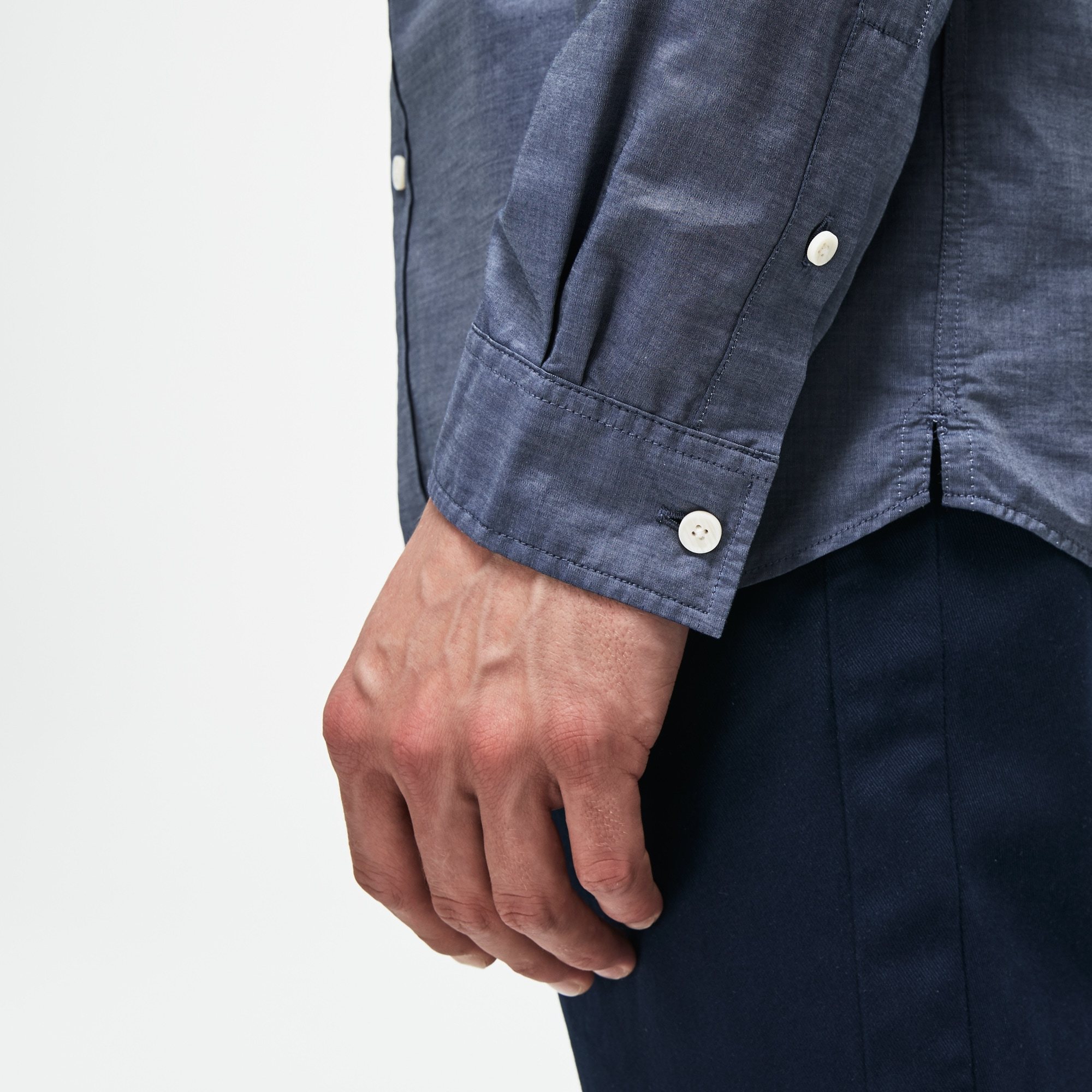 Lacoste - Camisa De Hombre Slim Fit En Popelín De Rayas - 6
