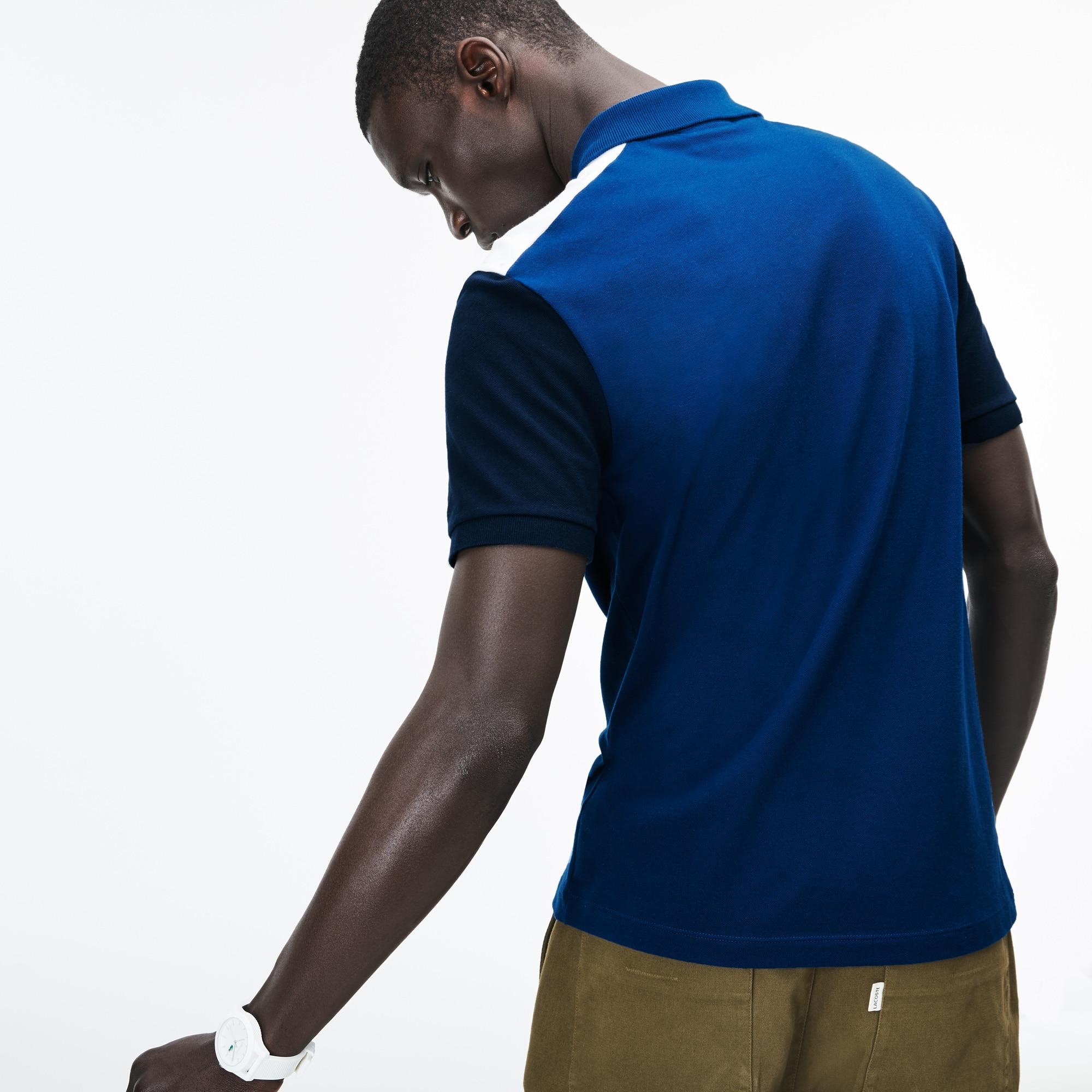 Lacoste - Polo De Hombre Lacoste Slim Fit En Piqué De Algodón Pima Elástico Color Block - 2