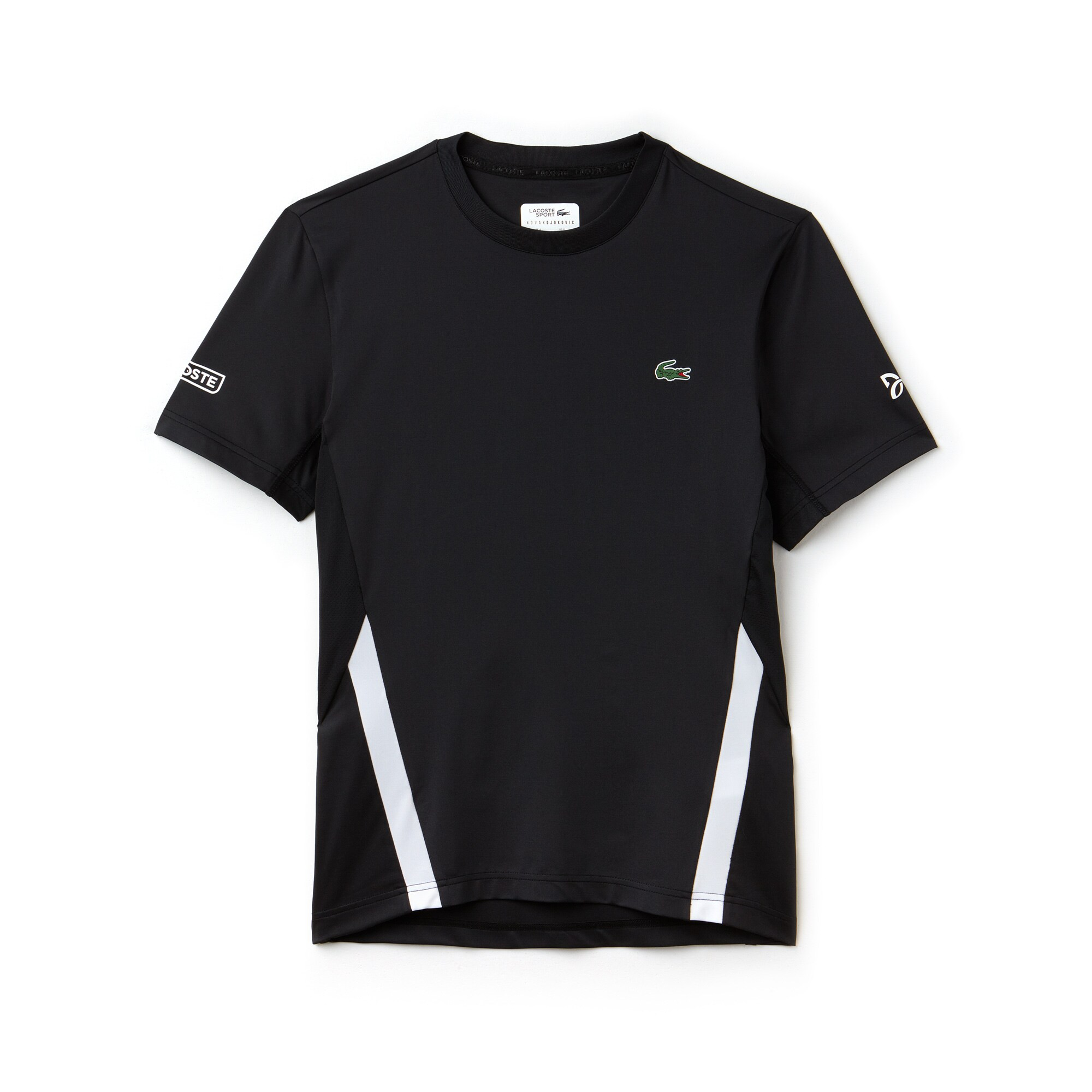 Camiseta De Hombre Lacoste SPORT Novak Djokovic -Off Court Collection En Tejido De Punto Técnico Elástico Con Cuello Redondo