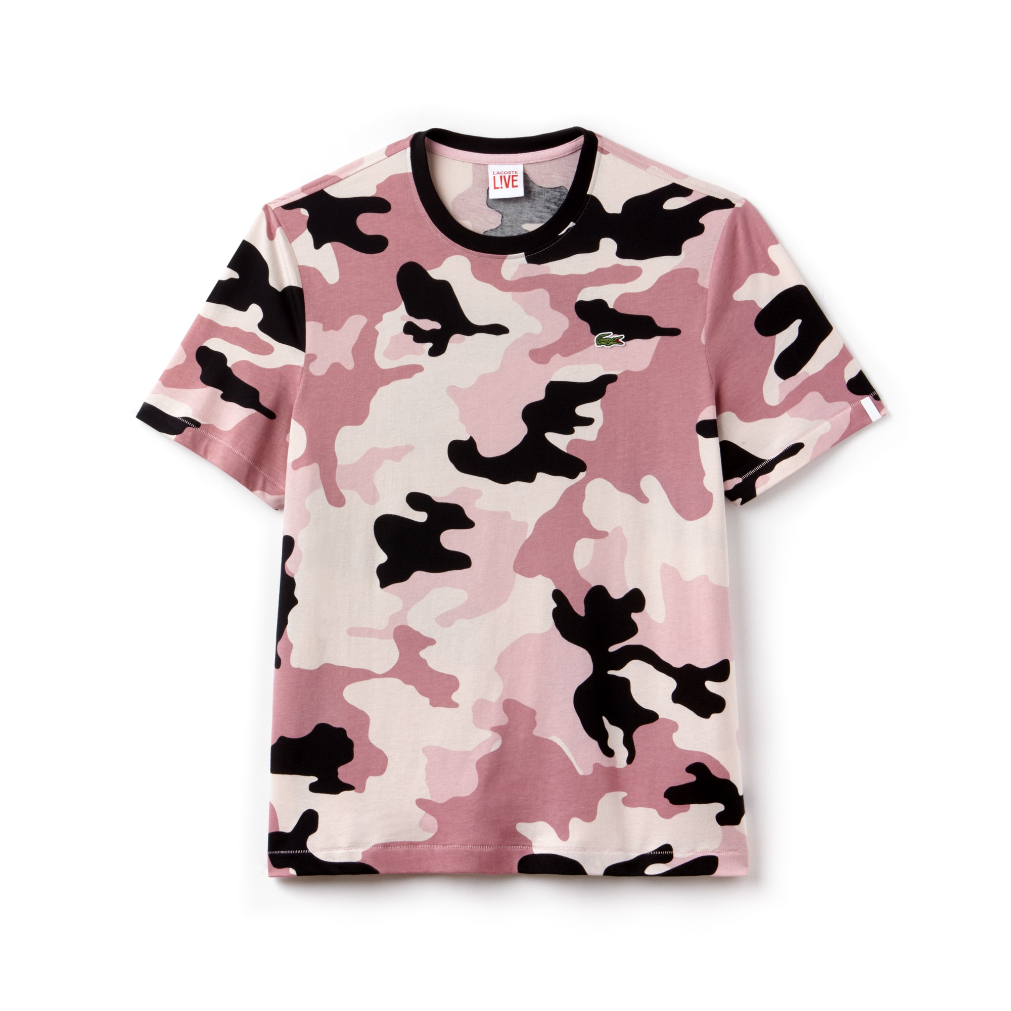 Camiseta Camuflaje Hombre Lacoste Live