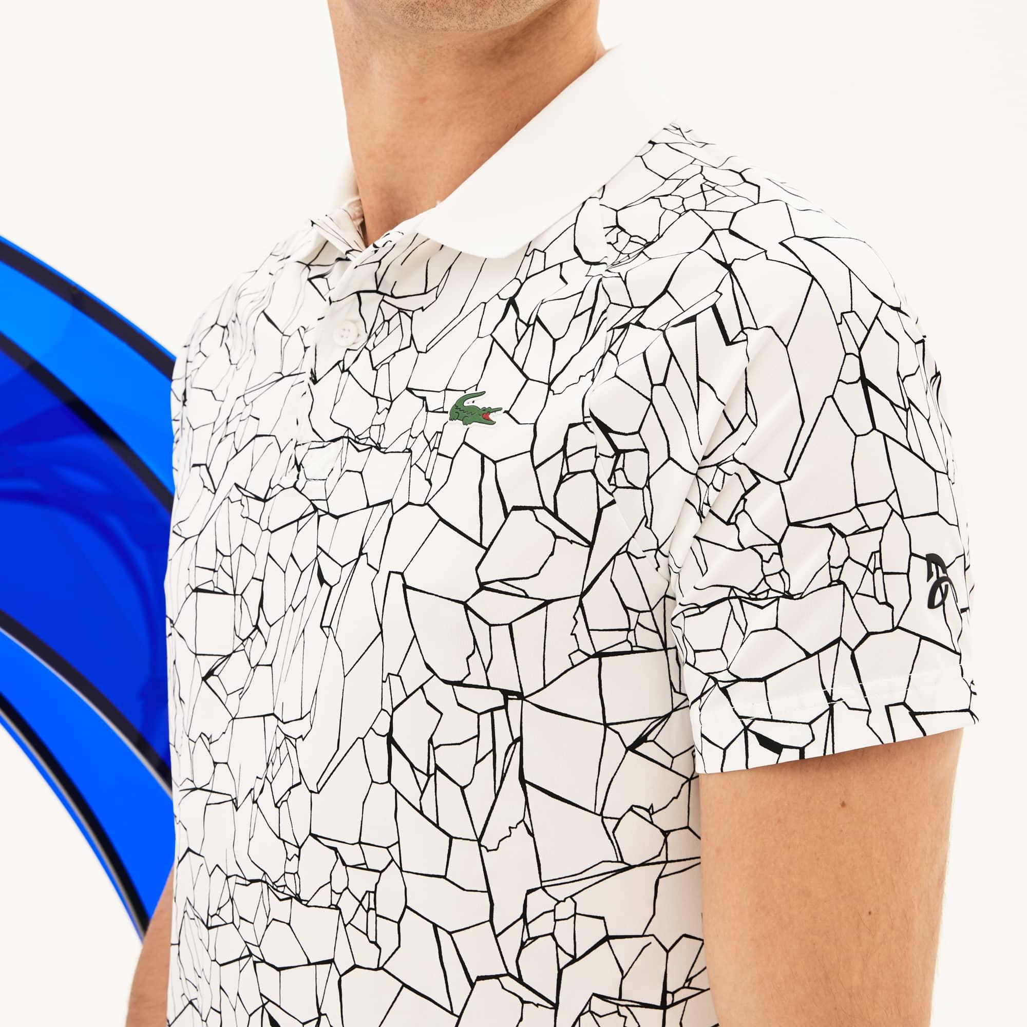 Lacoste - Polo De Hombre Lacoste SPORT Novak Djokovic-On Court Collection En Tejido De Punto Técnico Estampado - 4