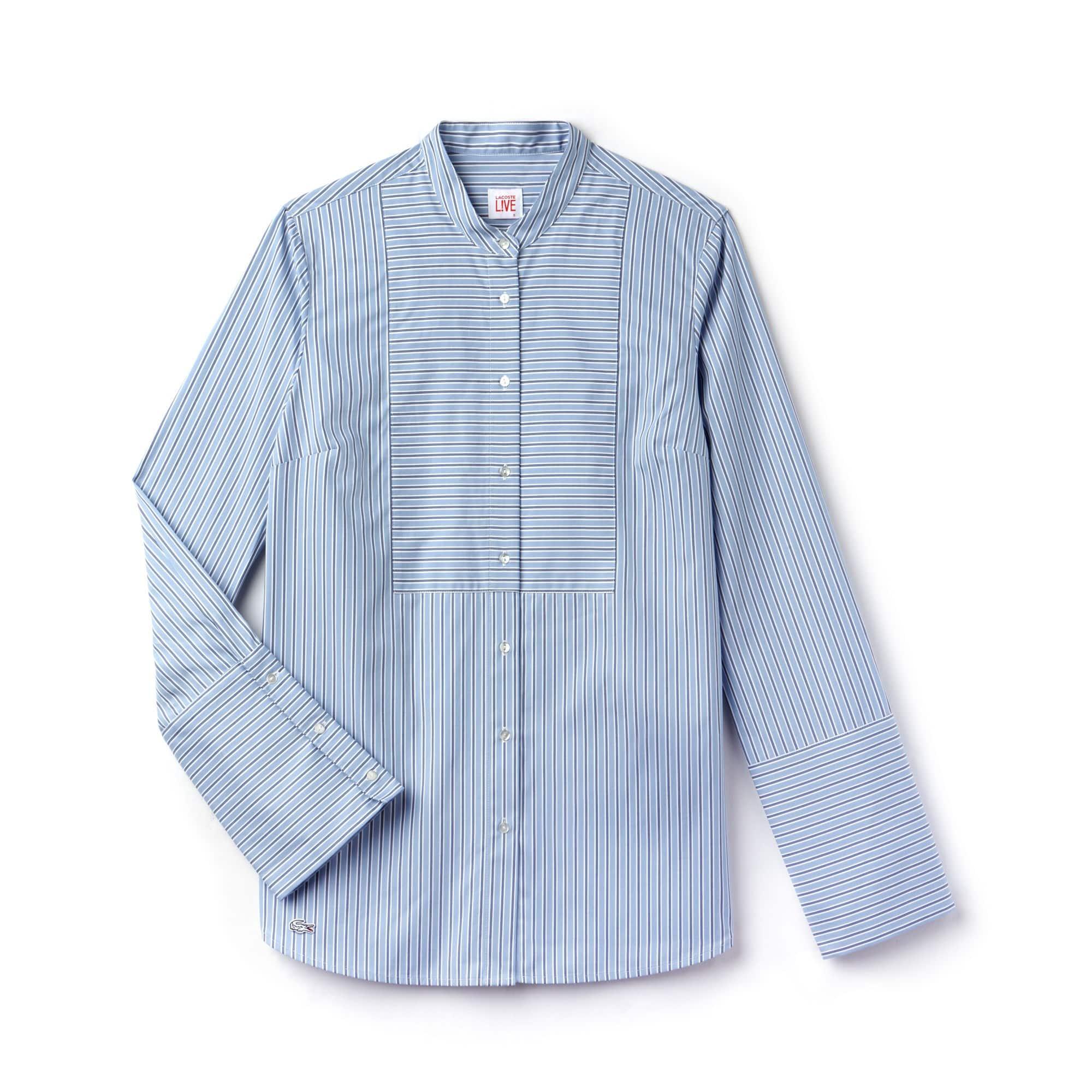 Camisa loose fit Lacoste LIVE de popelín de rayas
