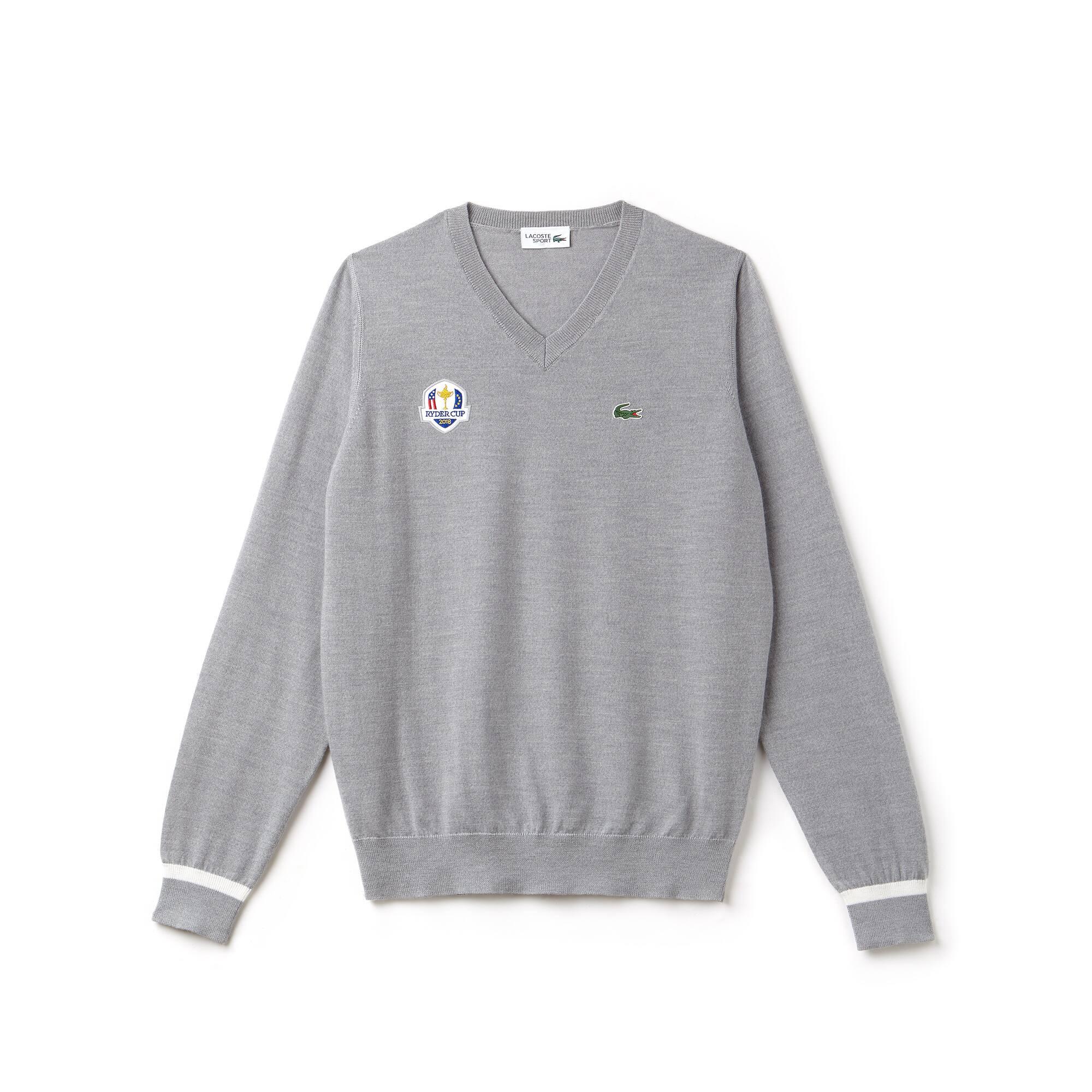 Jersey cuello a pico Golf Lacoste SPORT de punto jersey de lana Edición Ryder Cup