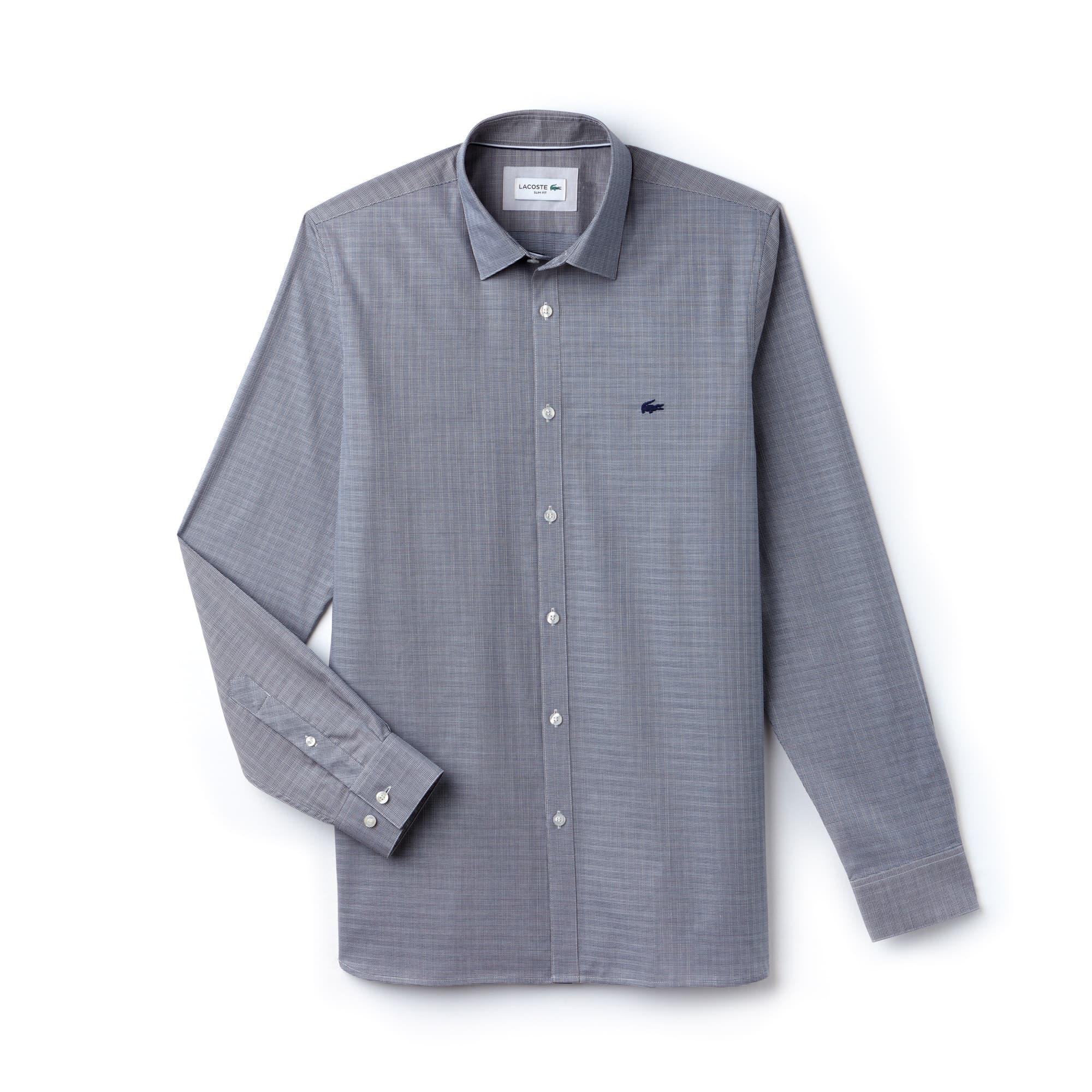 Camisa De Hombre Slim Fit En Jacquard De Popelín De Algodón