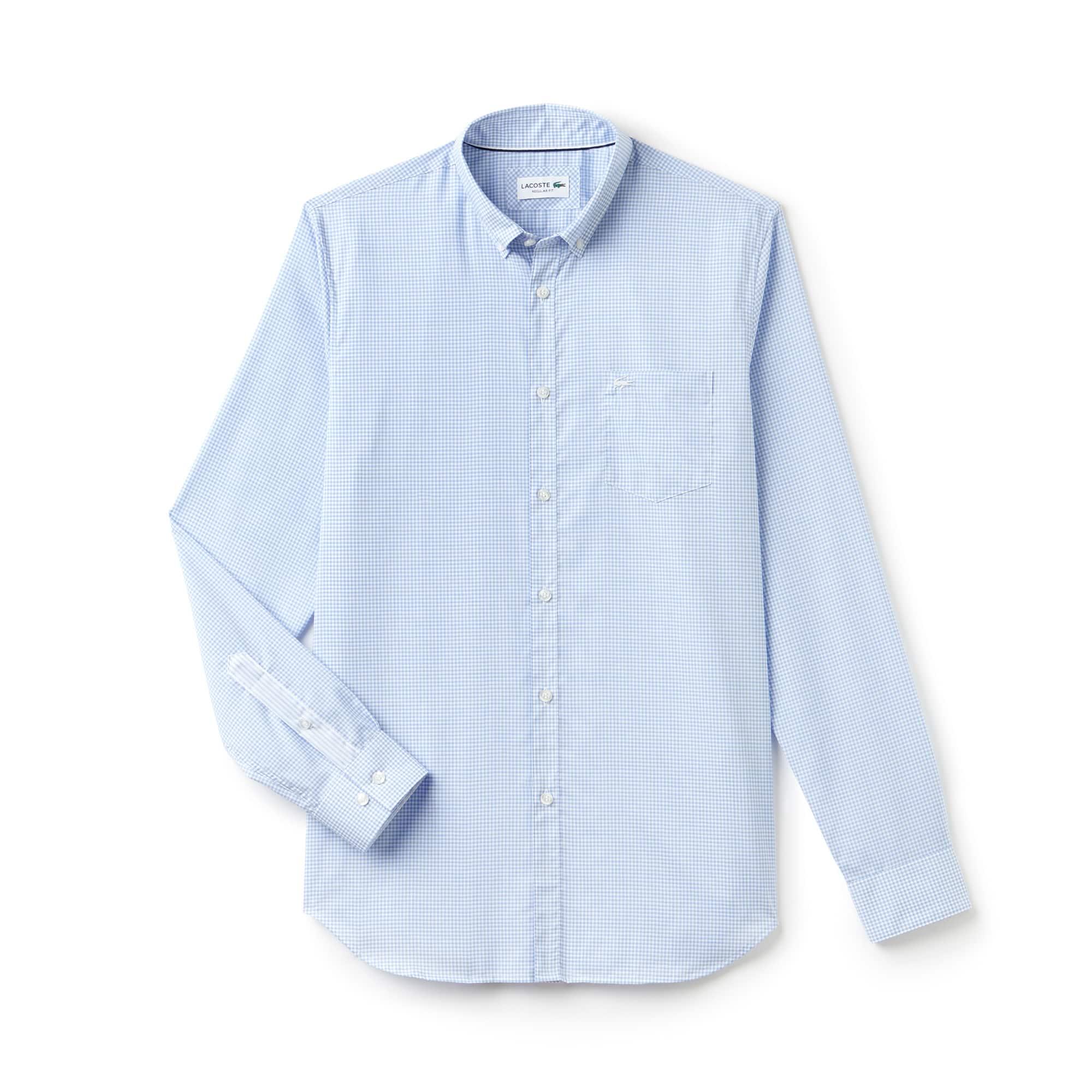 Camisa Cuadros Pequeños En Popelín