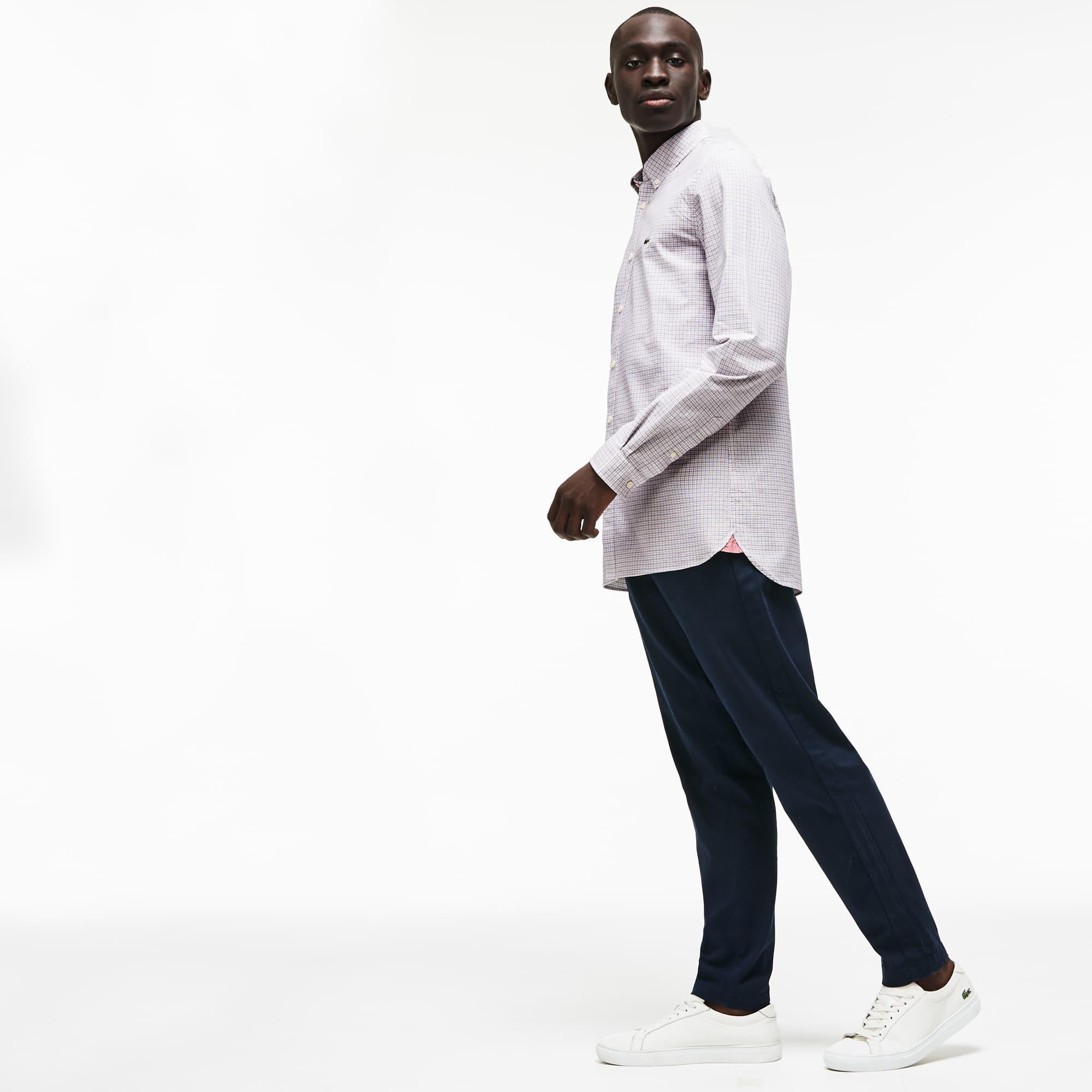 Lacoste - Camisa De Hombre Slim Fit En Algodón Oxford Elástico De Cuadros - 2