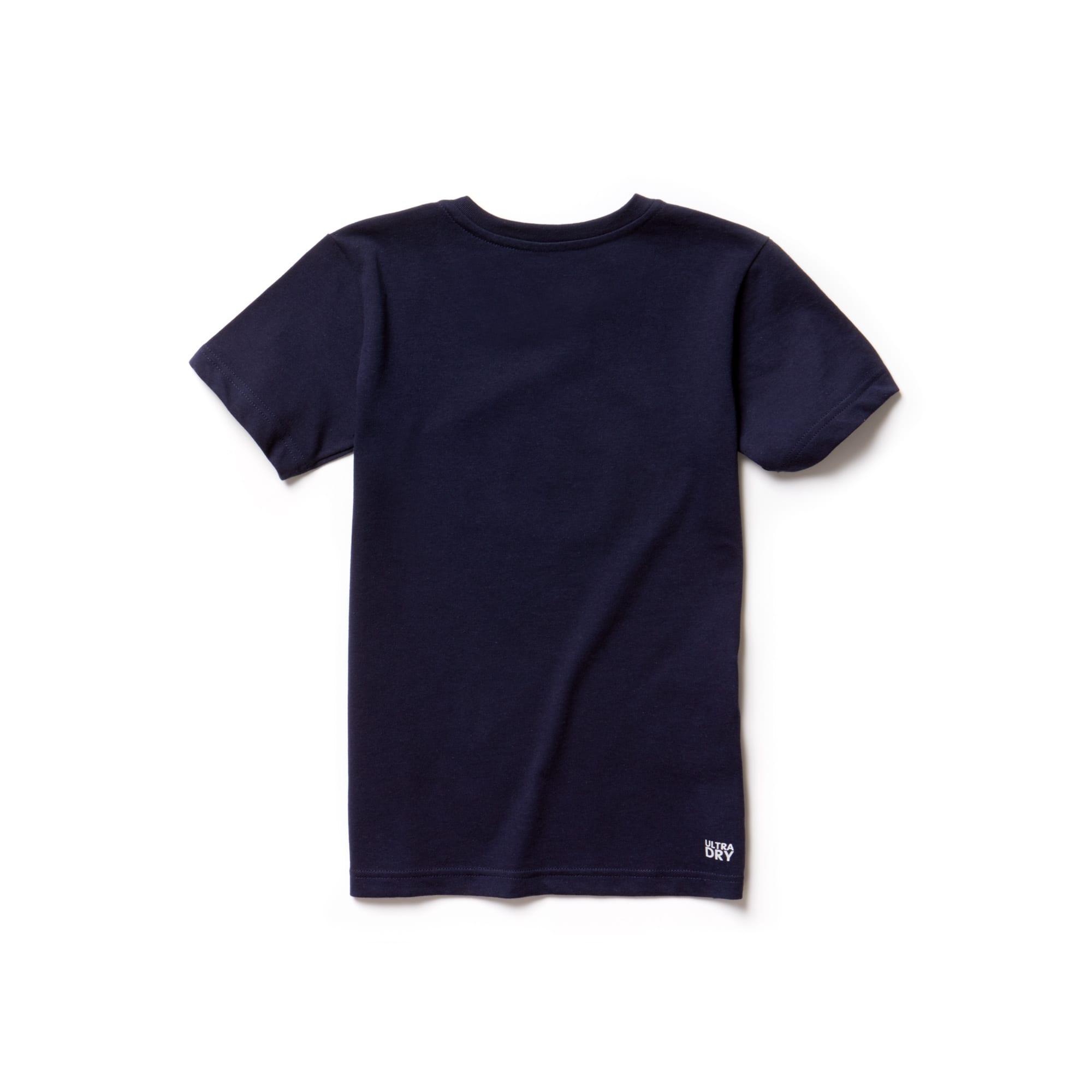 Lacoste - Camiseta infantil de tejido de punto técnico con gran cocodrilo Lacoste SPORT Tennis - 2