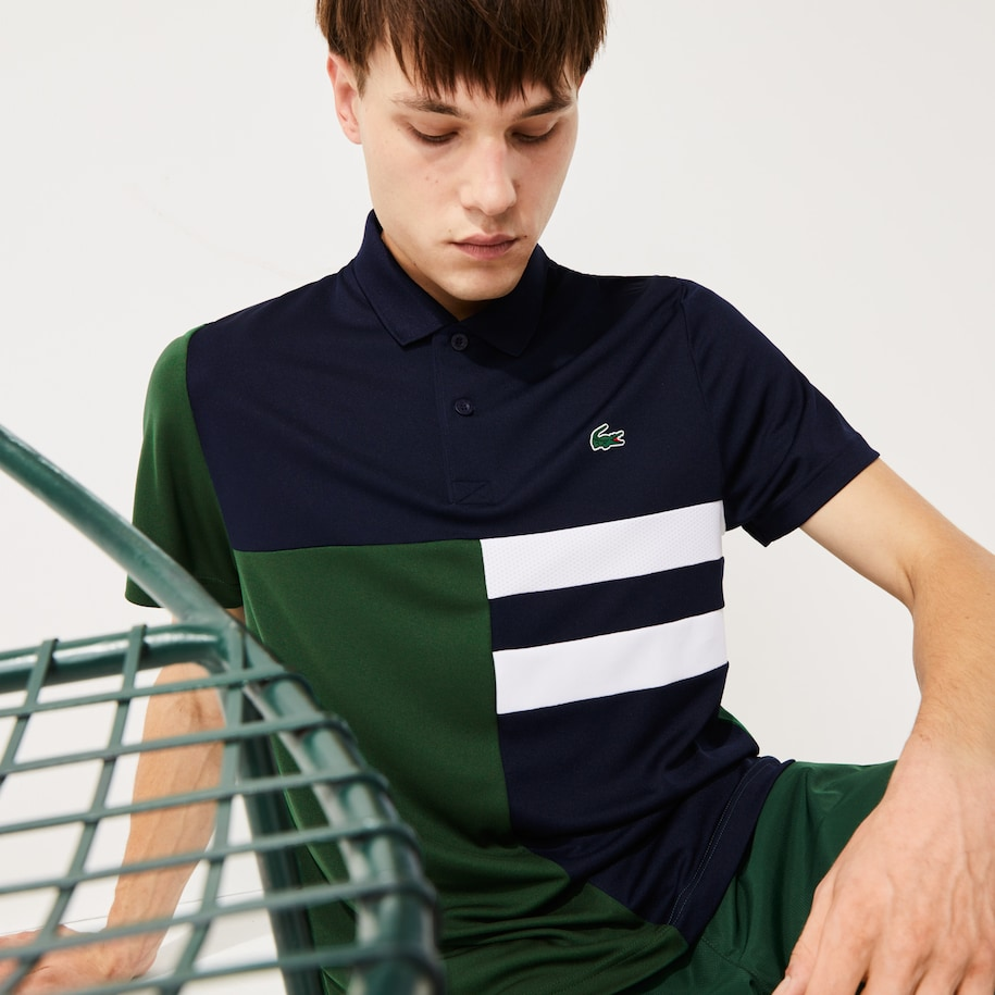 Polo de hombre Lacoste SPORT Tennis en piqué transpirable color block