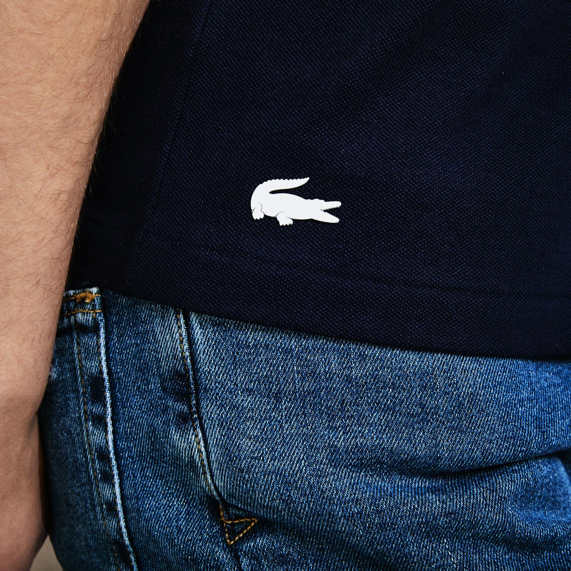 Lacoste - Polo De Hombre Lacoste Slim Fit En Mini Piqué Elástico Con Inscripción - 7