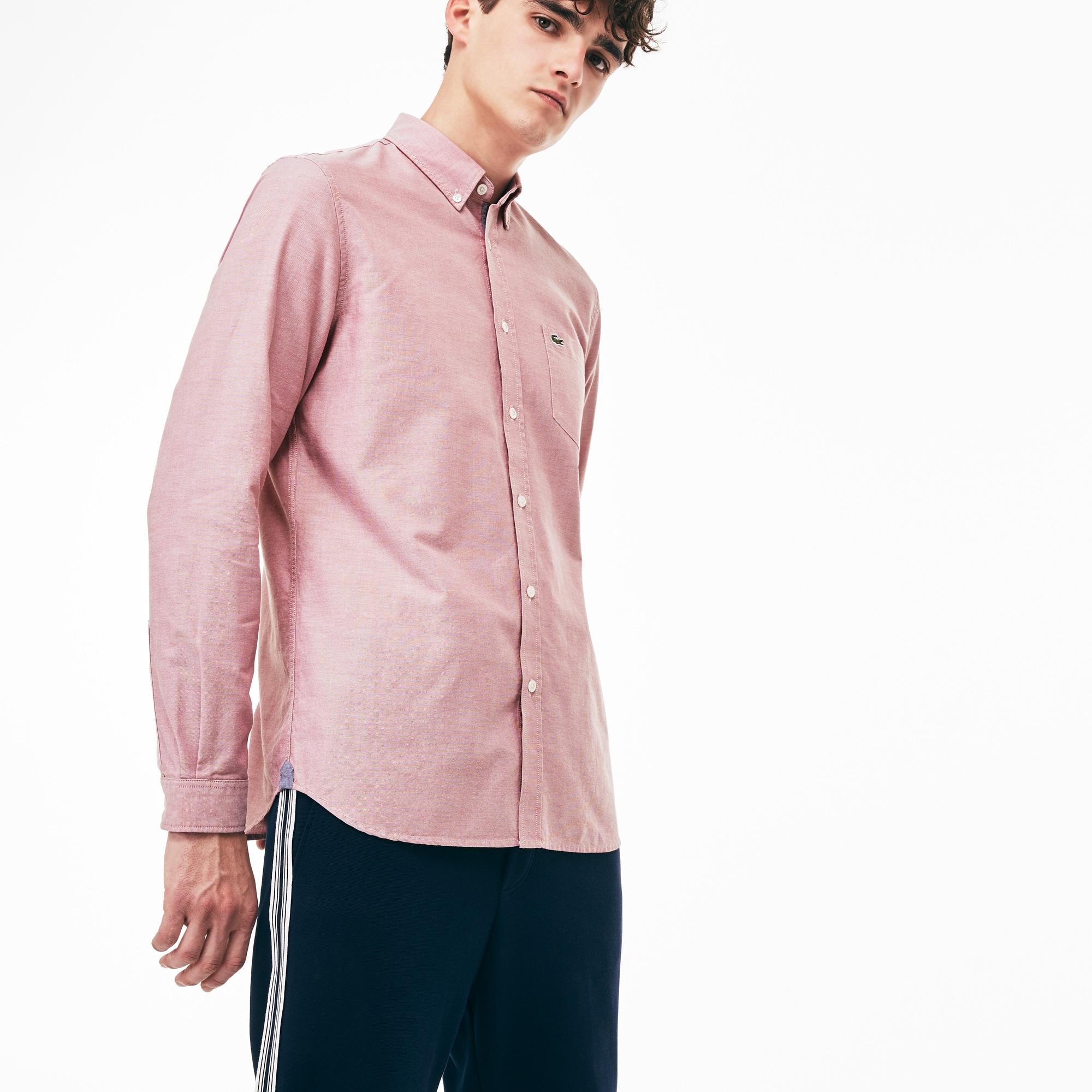 Camisa Regular Fit De Algodón Oxford Liso