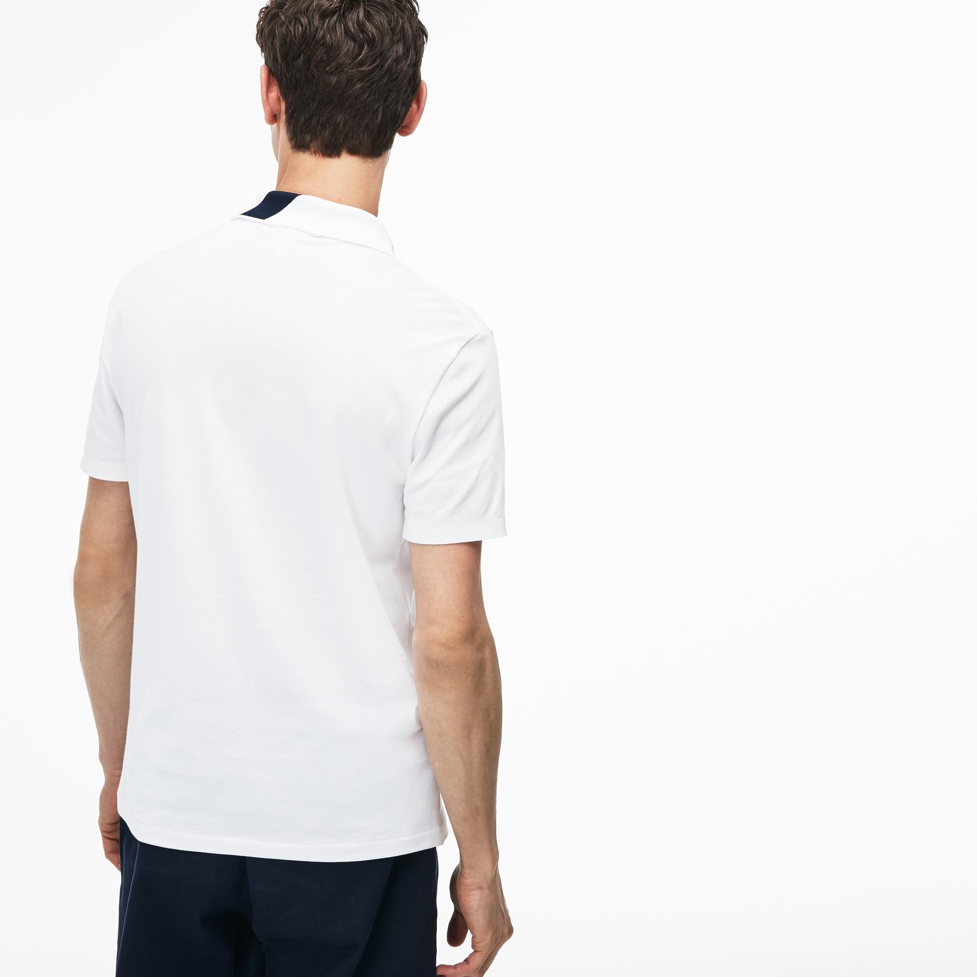 Lacoste - Polo De Hombre Lacoste Slim Fit En Mini Piqué Elástico Con Inscripción - 2