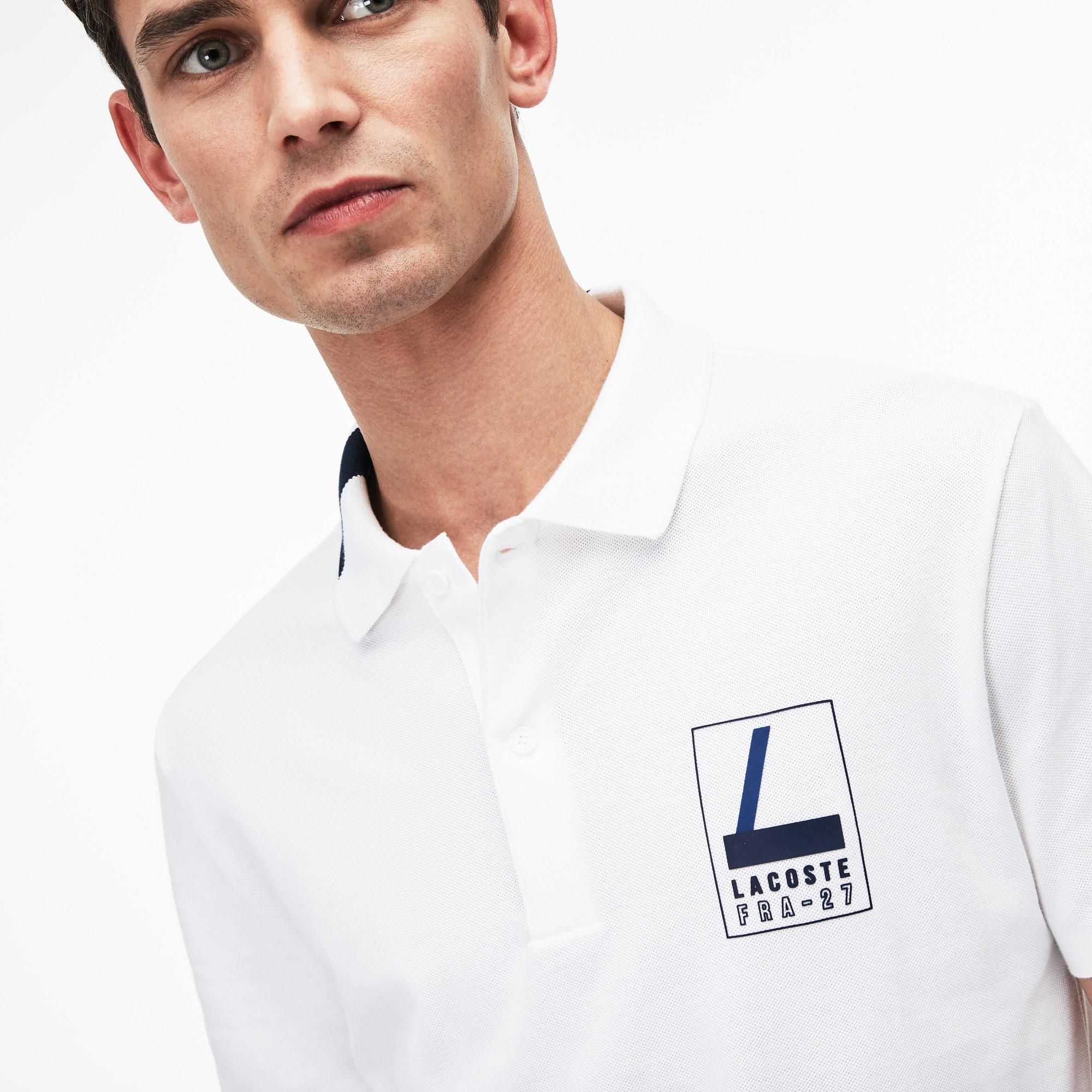 Lacoste - Polo De Hombre Lacoste Slim Fit En Mini Piqué Elástico Con Inscripción - 5