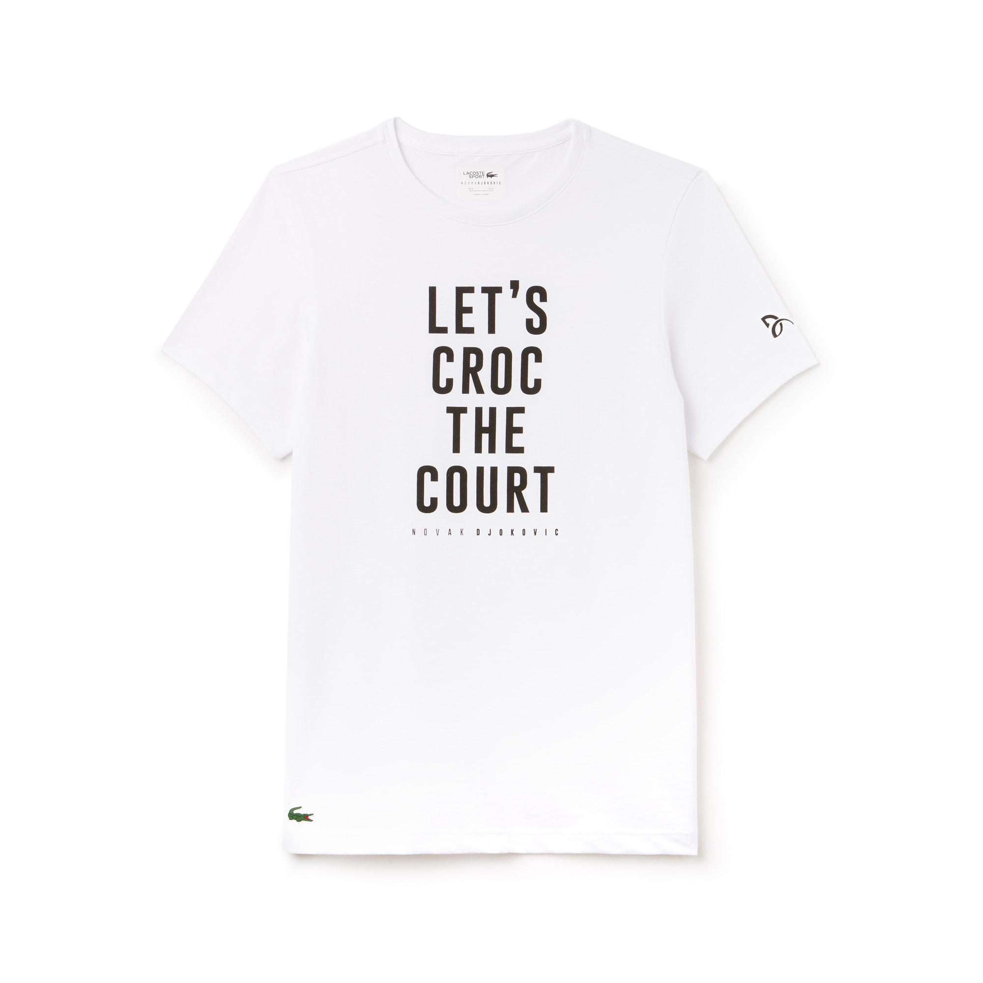 Camiseta De Hombre Lacoste SPORT Novak Djokovic Support With Style -Off Court Collection En Tejido De Punto Técnico Con Inscripción Y Cuello Redondo