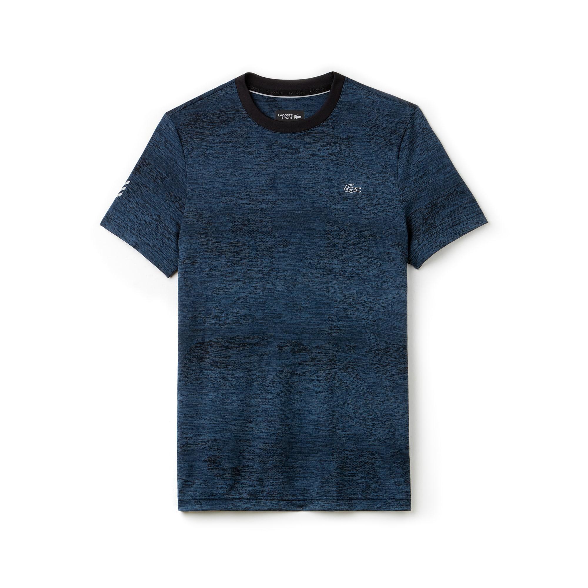 Camiseta Técnica Estampada Tenis Lacoste Sport