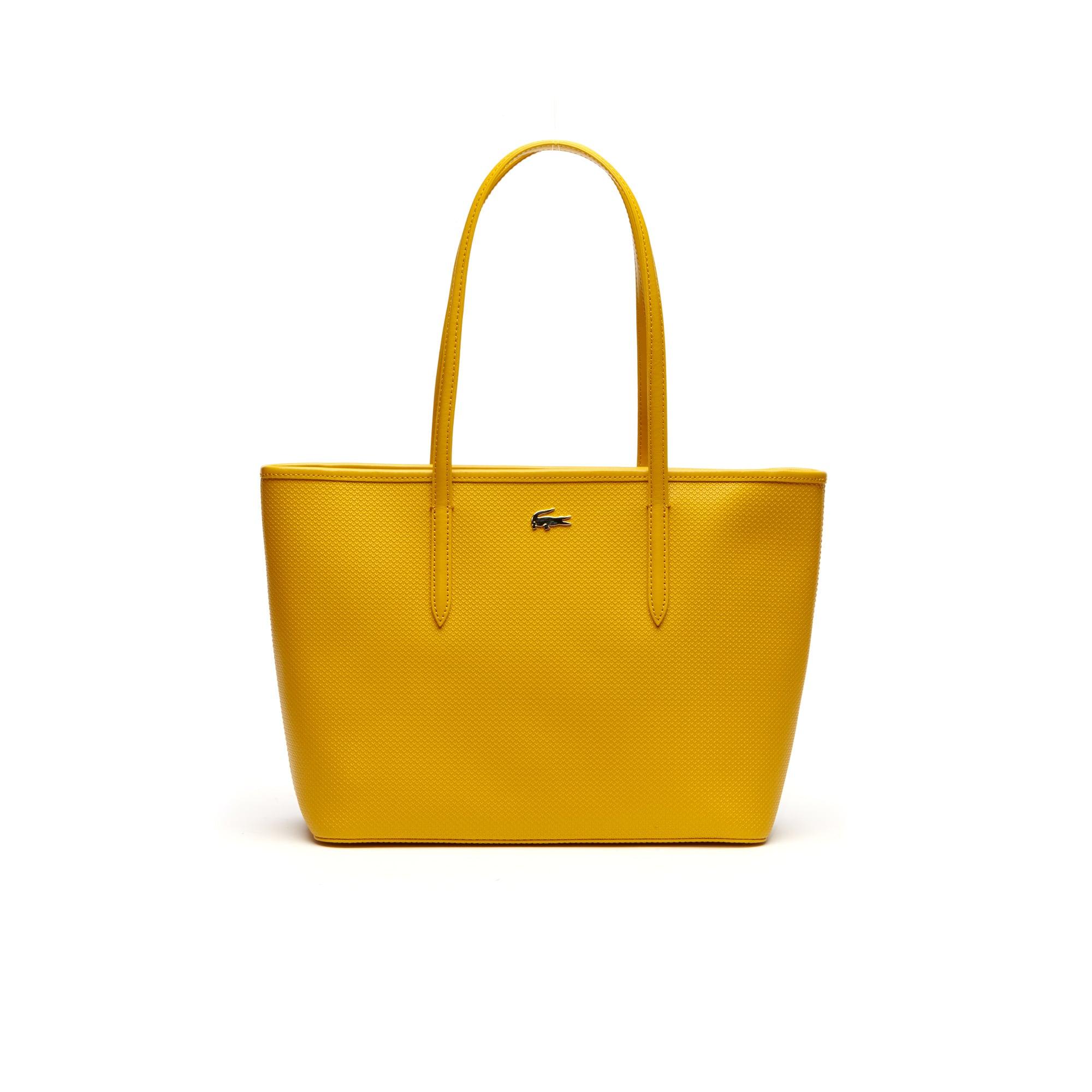 Shopping Bag De Piel Con Cremallera Colección Chantaco