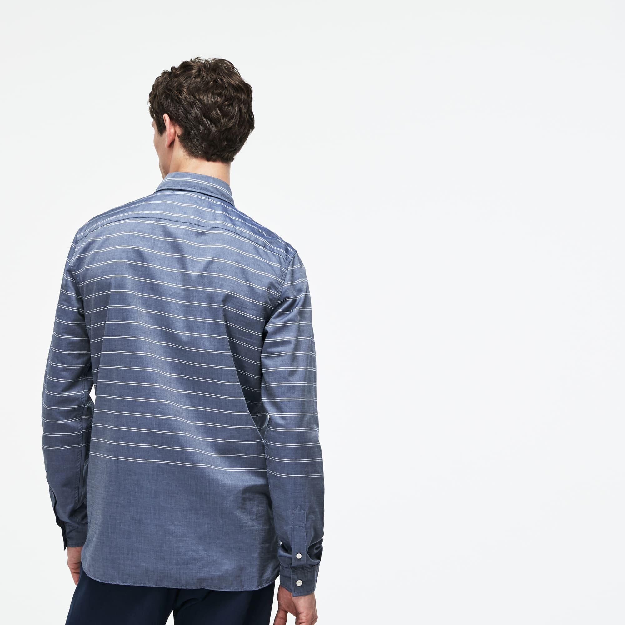 Lacoste - Camisa De Hombre Slim Fit En Popelín De Rayas - 3