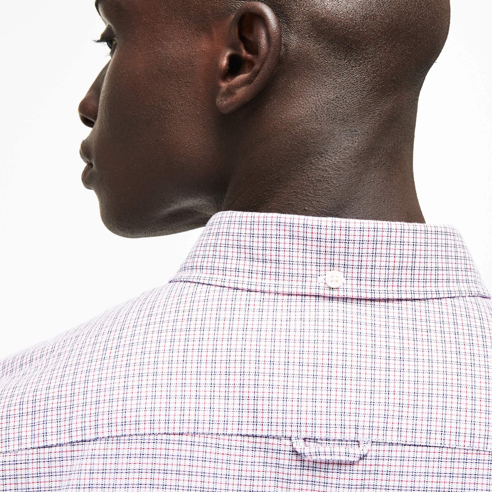 Lacoste - Camisa De Hombre Slim Fit En Algodón Oxford Elástico De Cuadros - 6